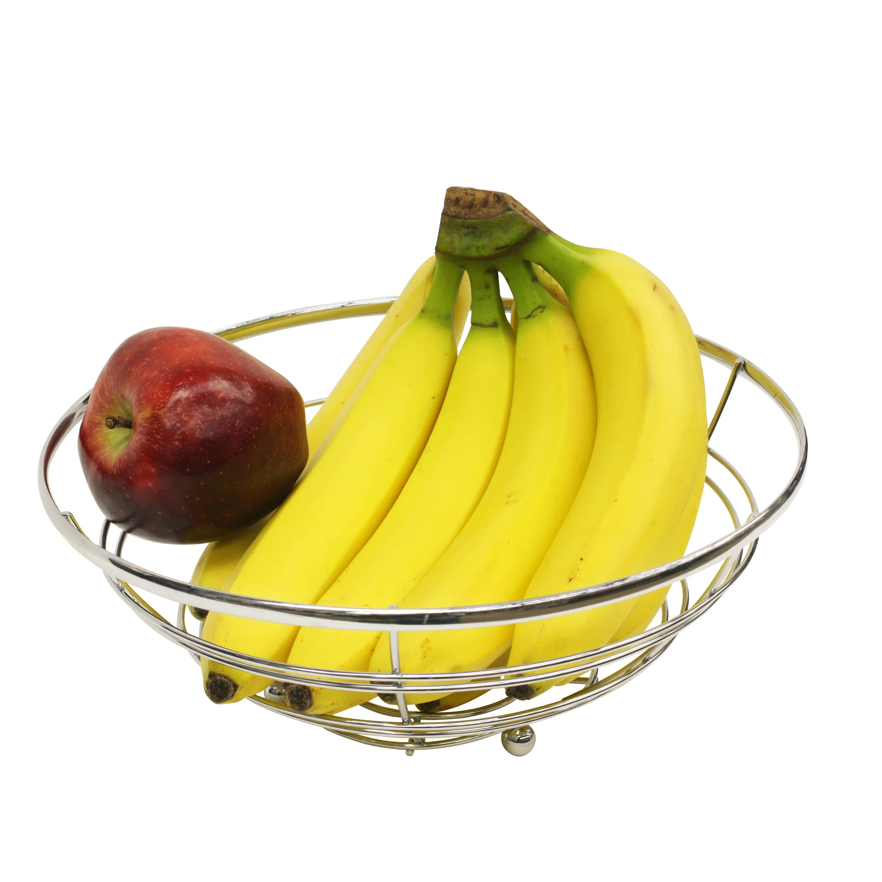 Modern Metal Fruit Bowl Sweet Home Collection Modern Rust Resistant Chrome Fruit Bowl