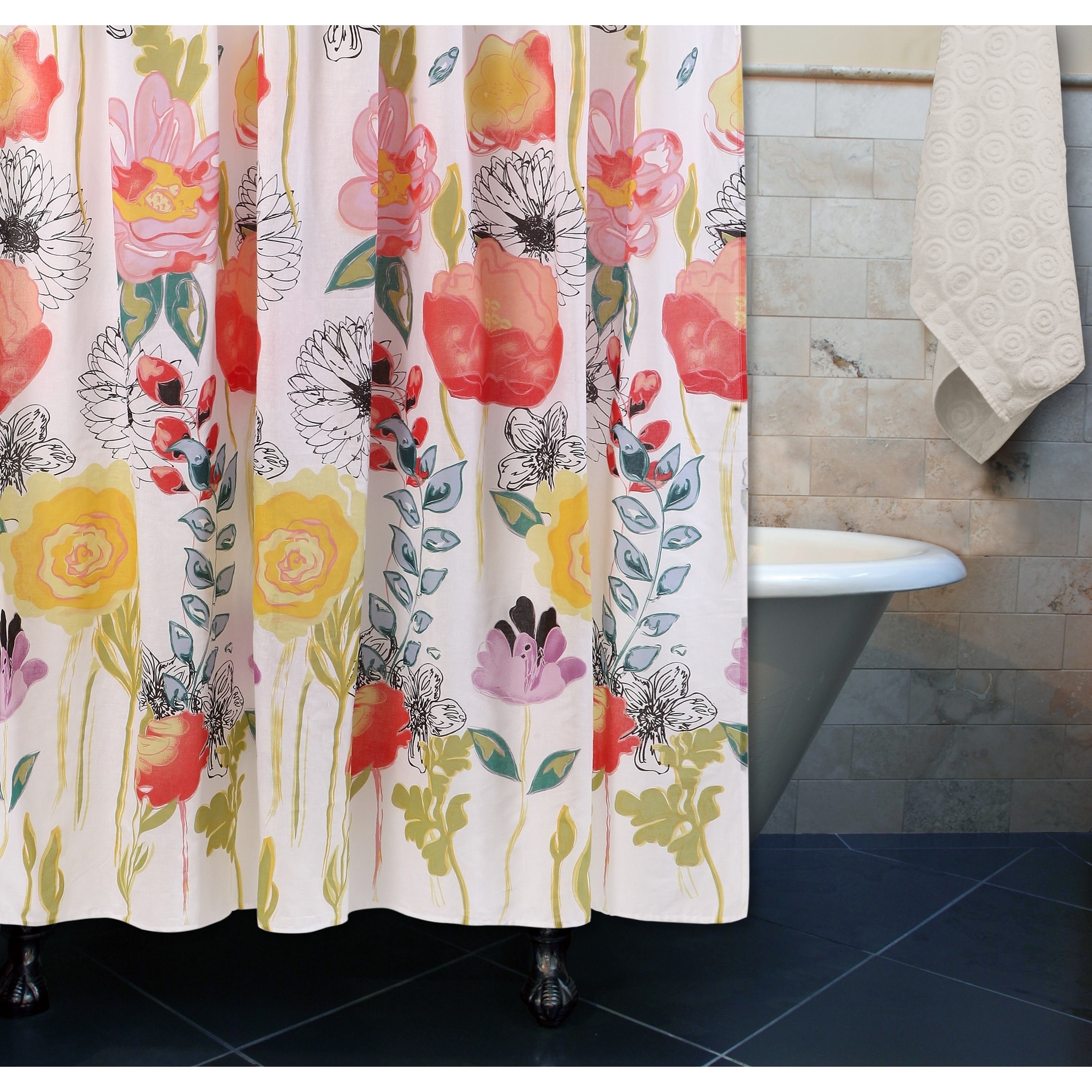 Apt 9 Shower Curtain Greenland Home Fashions Watercolor Dream Shower Curtain