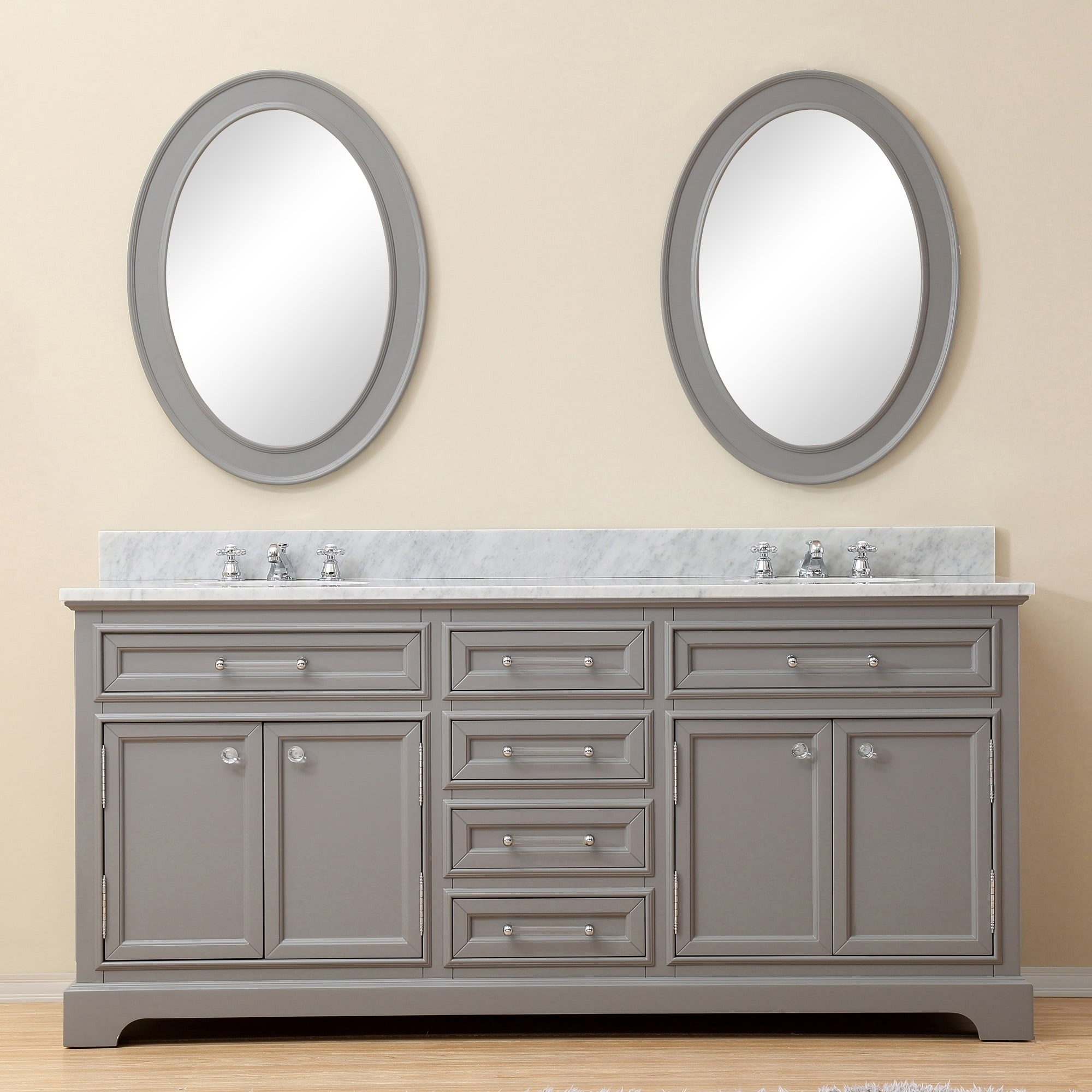 Bathroom Vanity 72 Double Sink Water Creation Derby 72 Inch Cashmere Grey Double Sink Bathroom Vanity