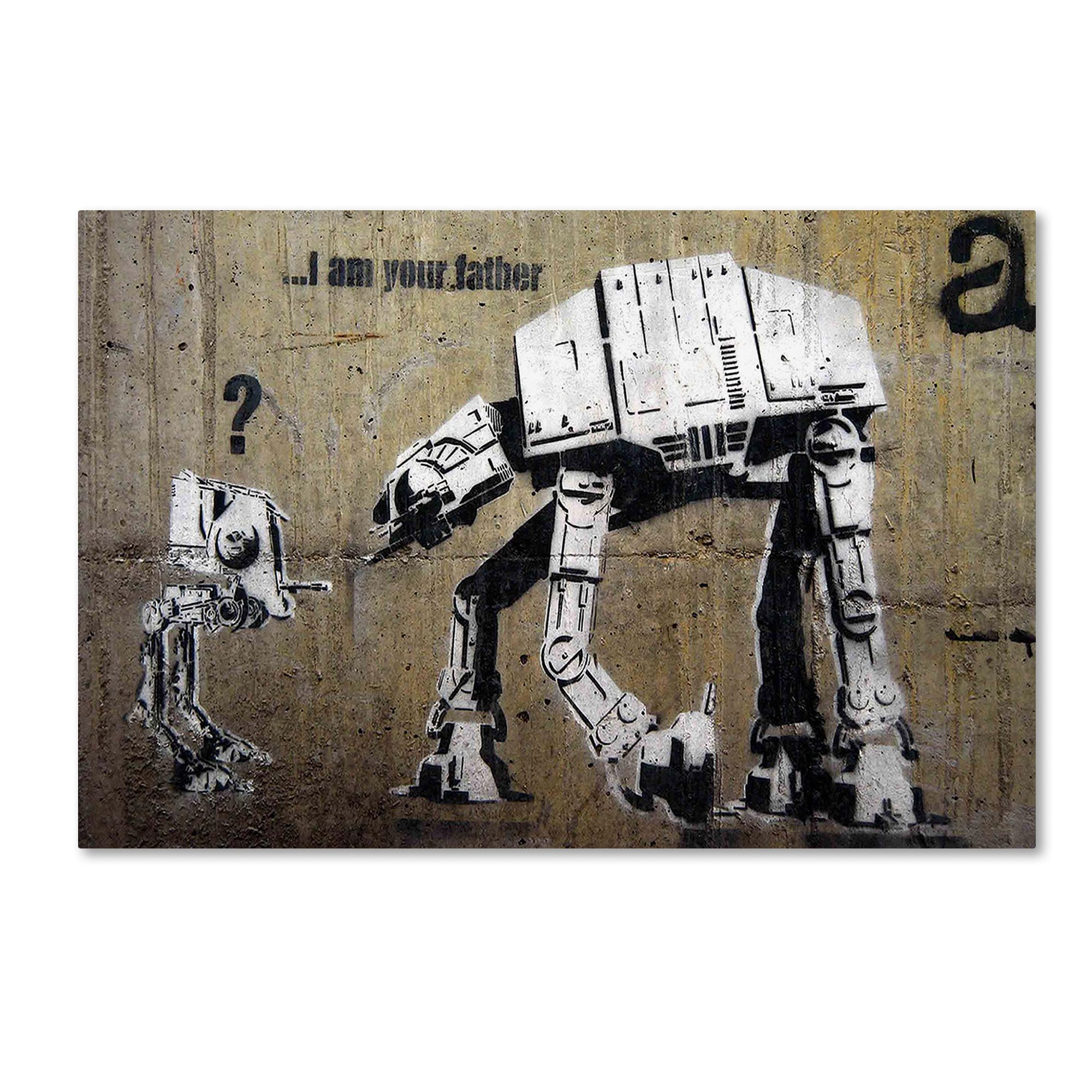 Banksy Canvas Art Banksy Your Father Canvas Art