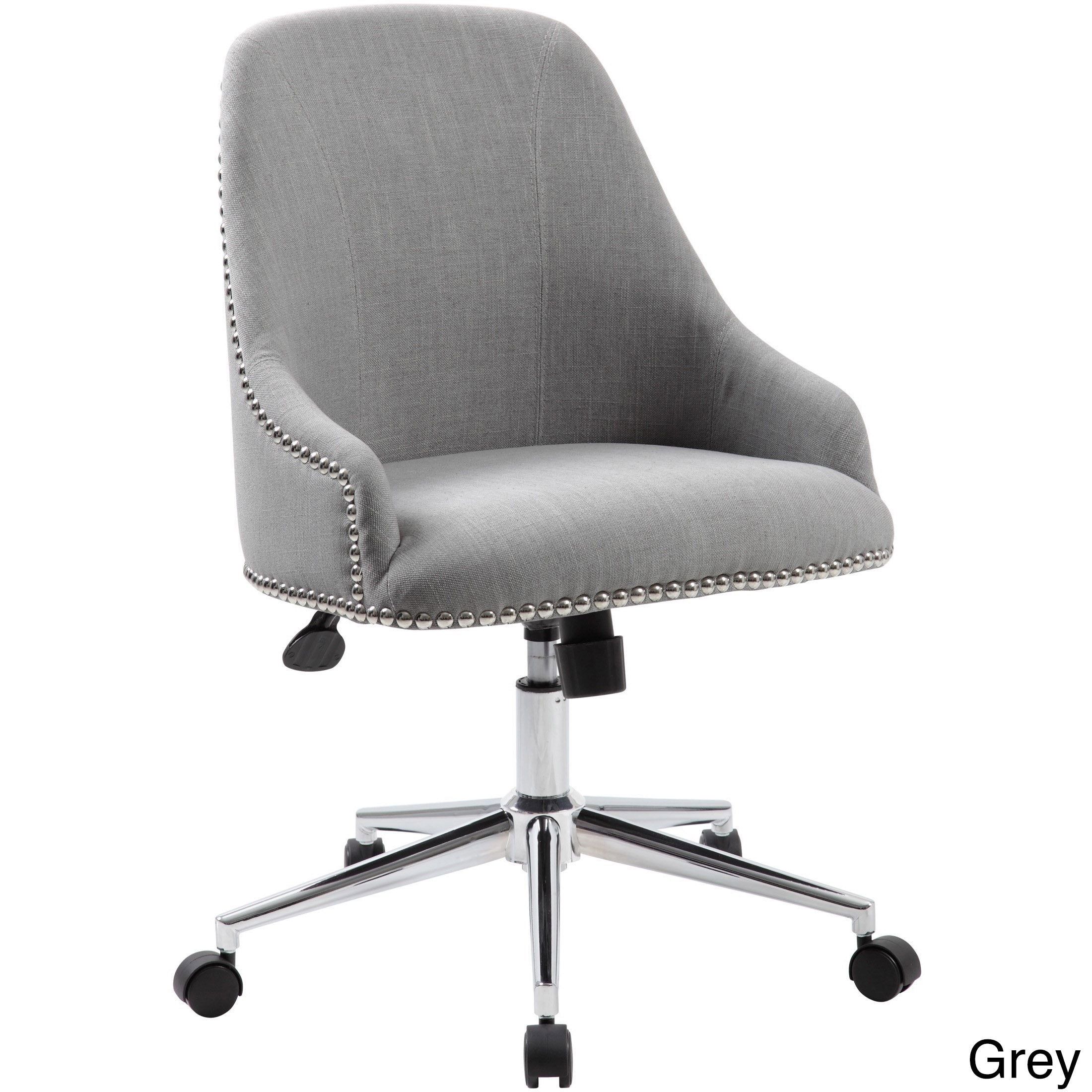 Grey Desk Chair Boss Carnegie Desk Chair