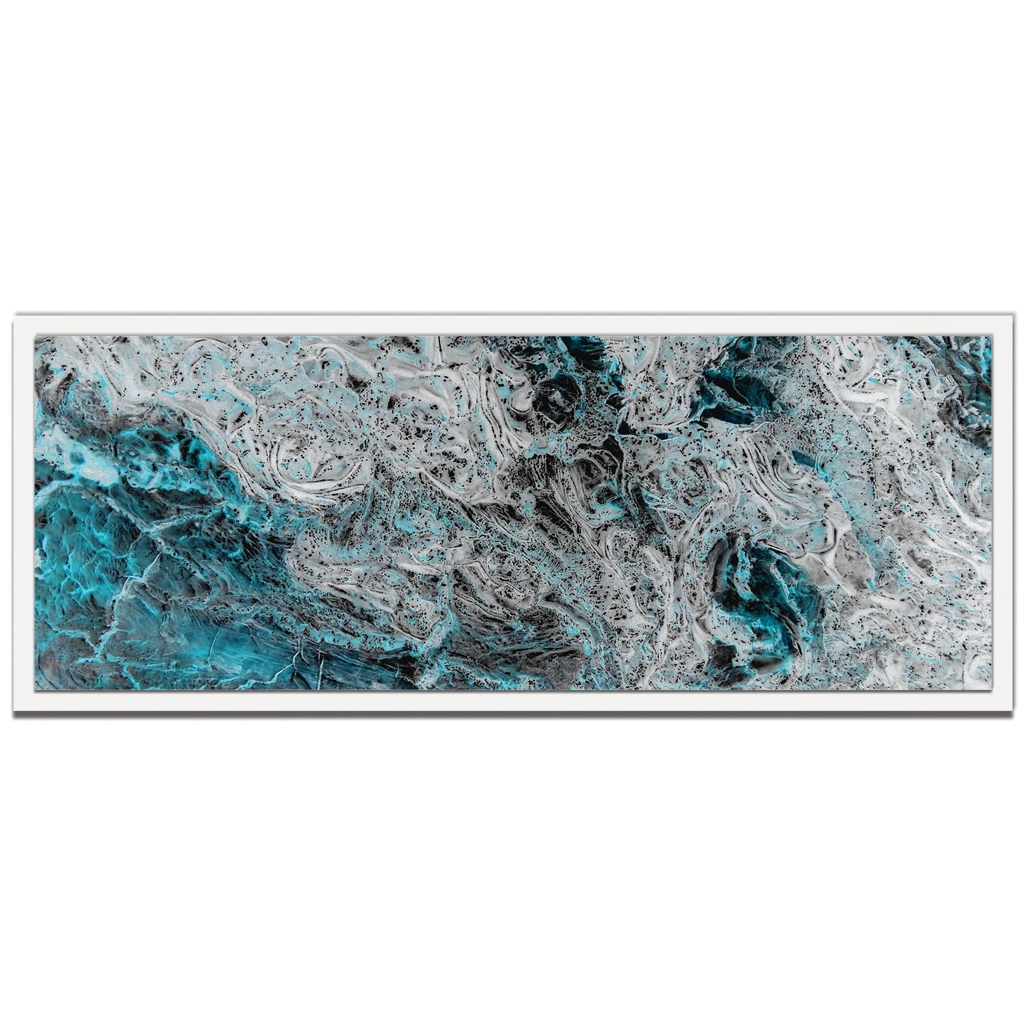 Contemporary Abstract Painting Emley Storm Turquoise Contemporary Abstract Painting Giclée On Metal