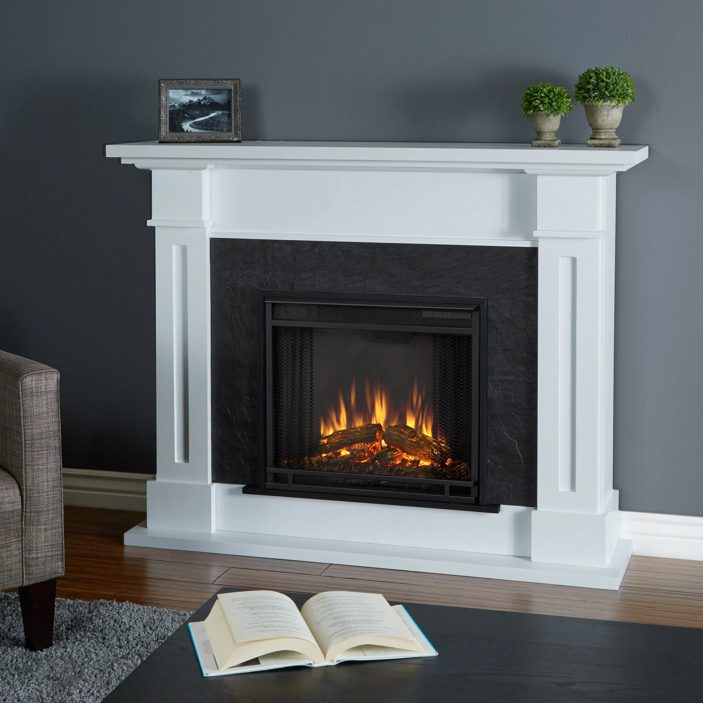 Gas Vs Electric Fireplace Pros And Cons Kipling Electric Fireplace White By Real Flame