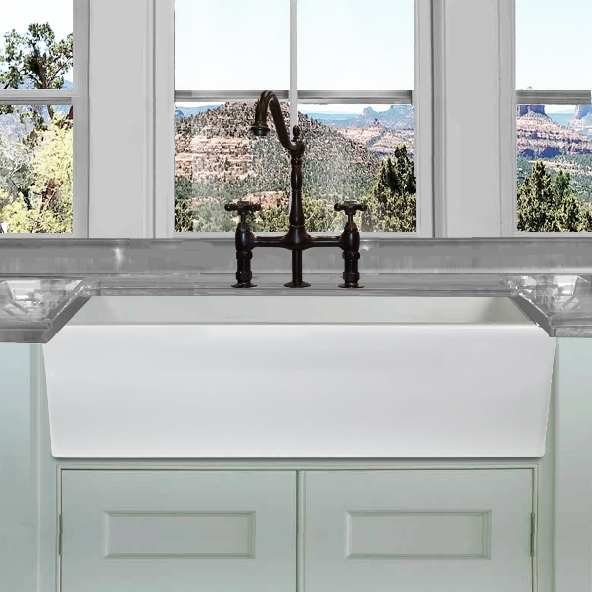 White Farmhouse Sinks For Sale Highpoint Collection White 36 Inch Single Bowl Rectangle Fireclay Farmhouse Kitchen Sink