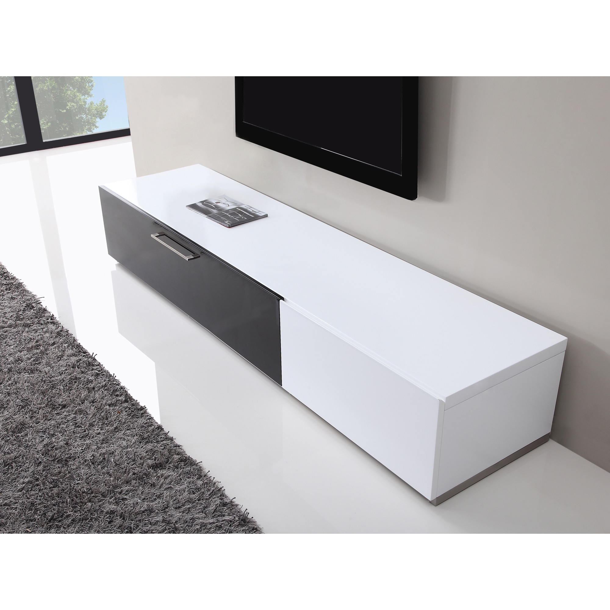 Tv Sideboard Modern B Modern Producer White Black Modern Tv Stand With Ir Glass