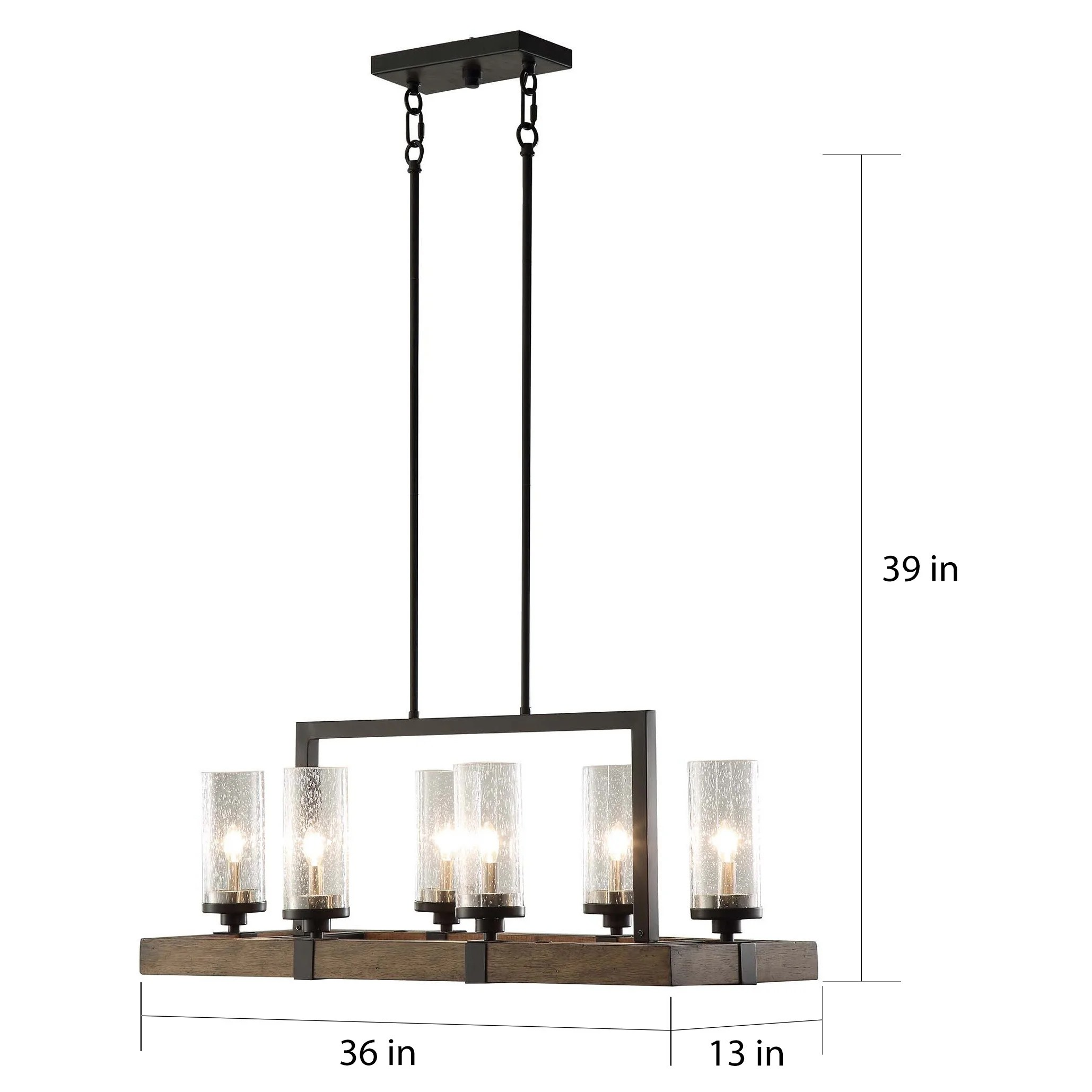 Chandelier Height 10 Foot Ceiling The Gray Barn Vineyard Metal And Wood 6 Light Chandelier With Seeded Glass Shades