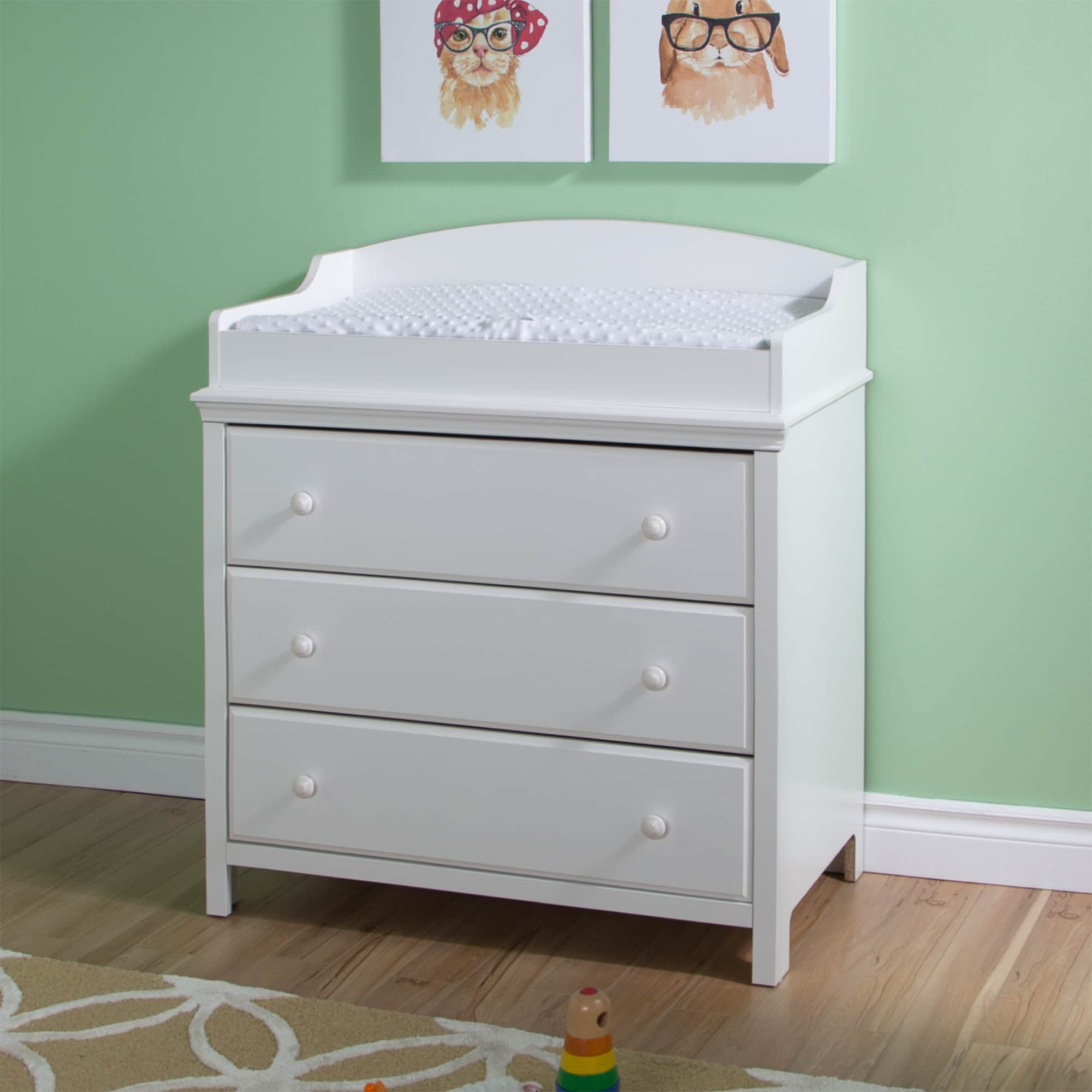 Changing Table Chest Of Drawers South Shore Cotton Candy Changing Table With Drawers
