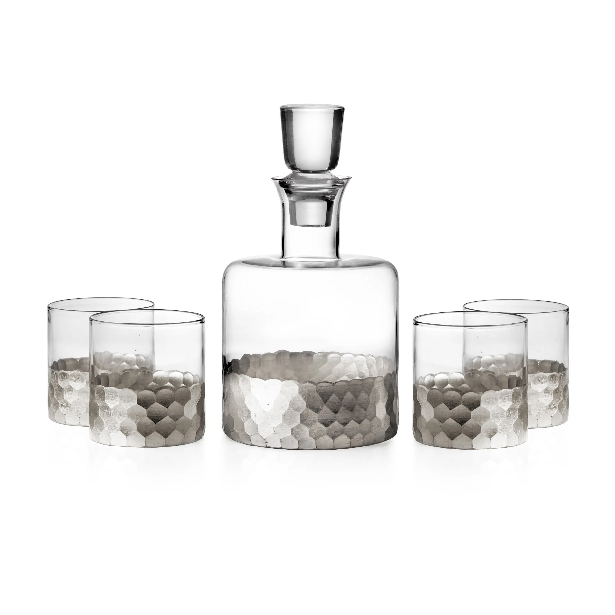 Whiskey Set Fitz And Floyd Daphne 5 Piece Whiskey Set