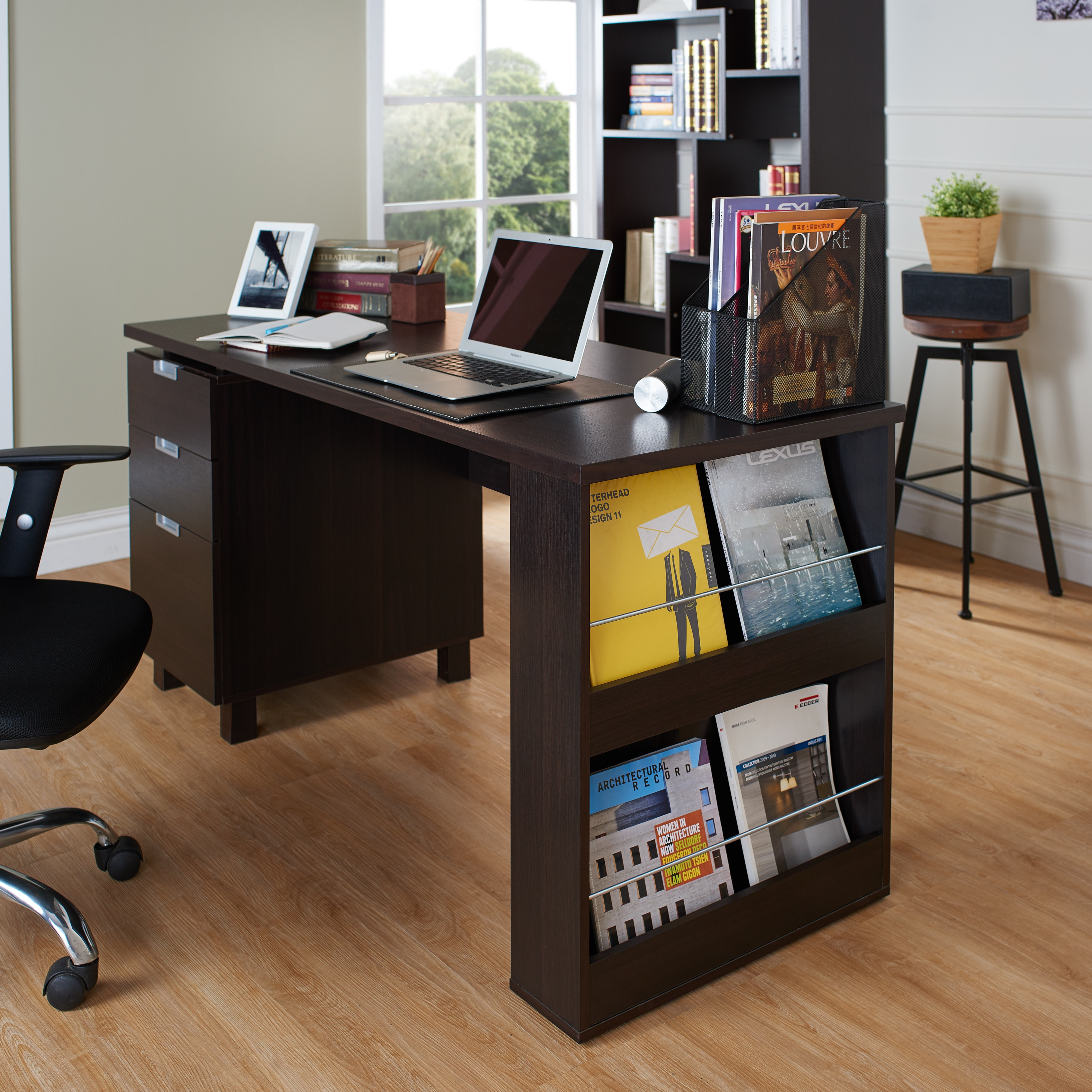 Desk With File Cabinet Furniture Of America Tuston Espresso Office Desk With File Cabinet