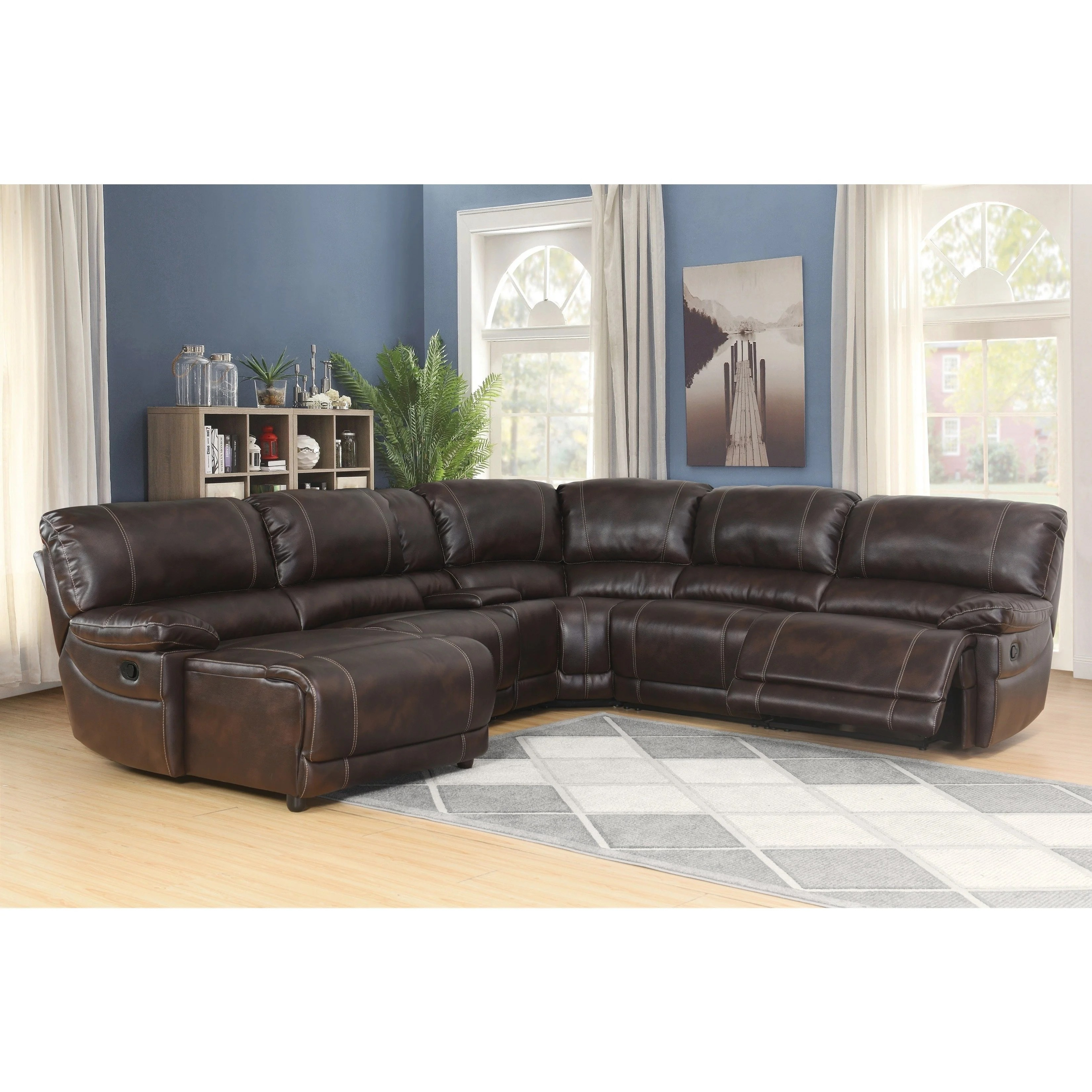 Cheap Sectional Sofa Abbyson Cooper 6 Piece Dark Brown Sectional Sofa