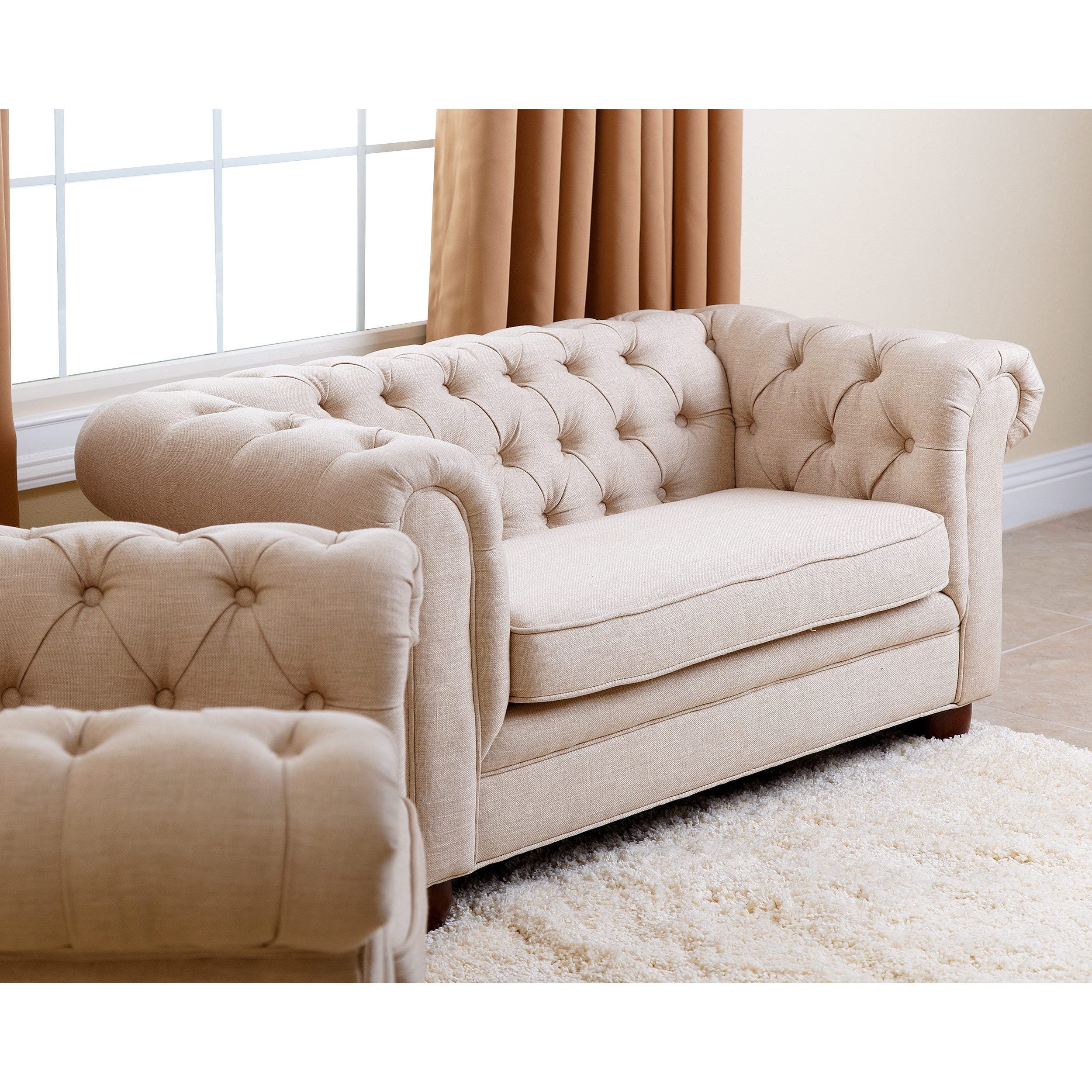 Mini Couch Abbyson Kids Beige Linen Chesterfield Rj Mini Sofa