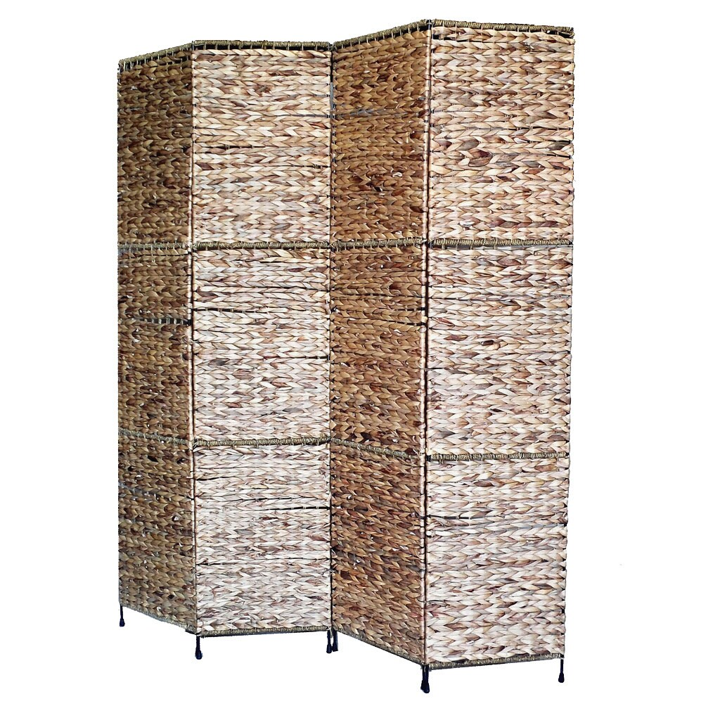 Sofa Scandinavian Jakarta Jakarta Folding Screen With Water Hyacinth Deocoration