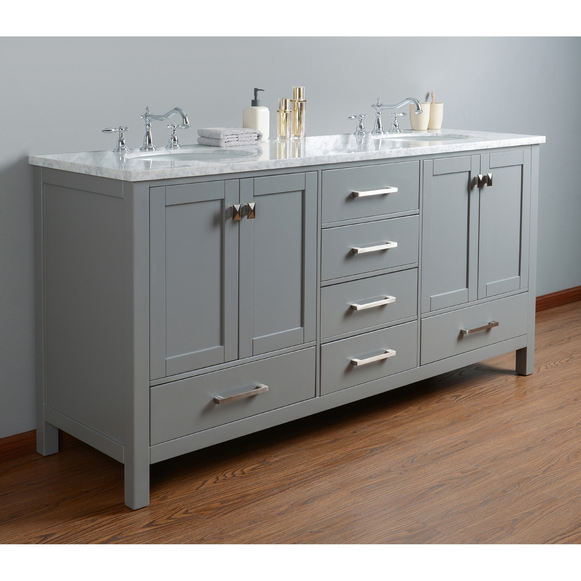 Bathroom Vanity 72 Double Sink Stufurhome 72 Inch Malibu Grey Double Sink Bathroom Vanity