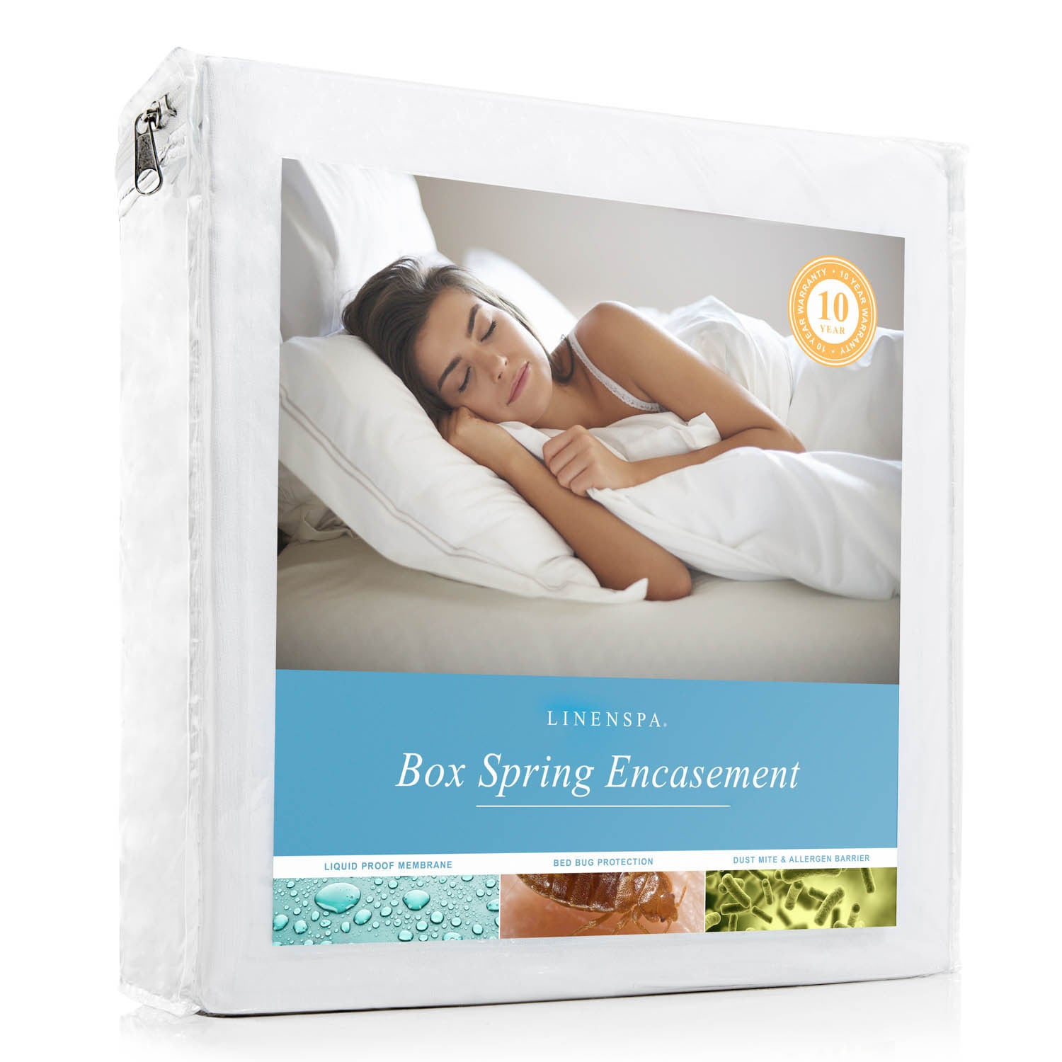 Bed Bug Protection Cover Linenspa Waterproof And Bed Bug Proof Box Spring Encasement Protector