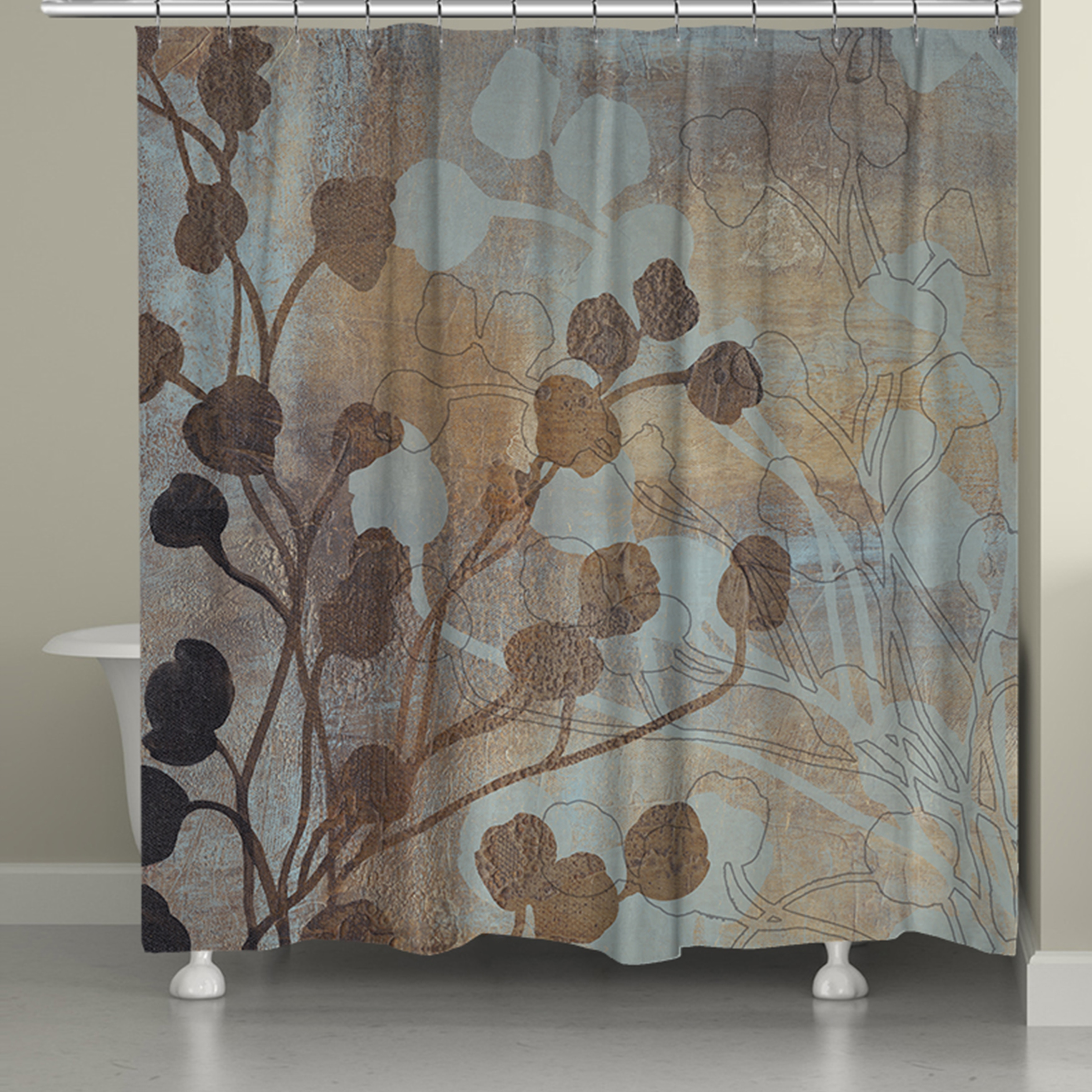 74 Shower Curtain Laural Home Bronze Gold Spa Shower Curtain 71 Inch X 74 Inch