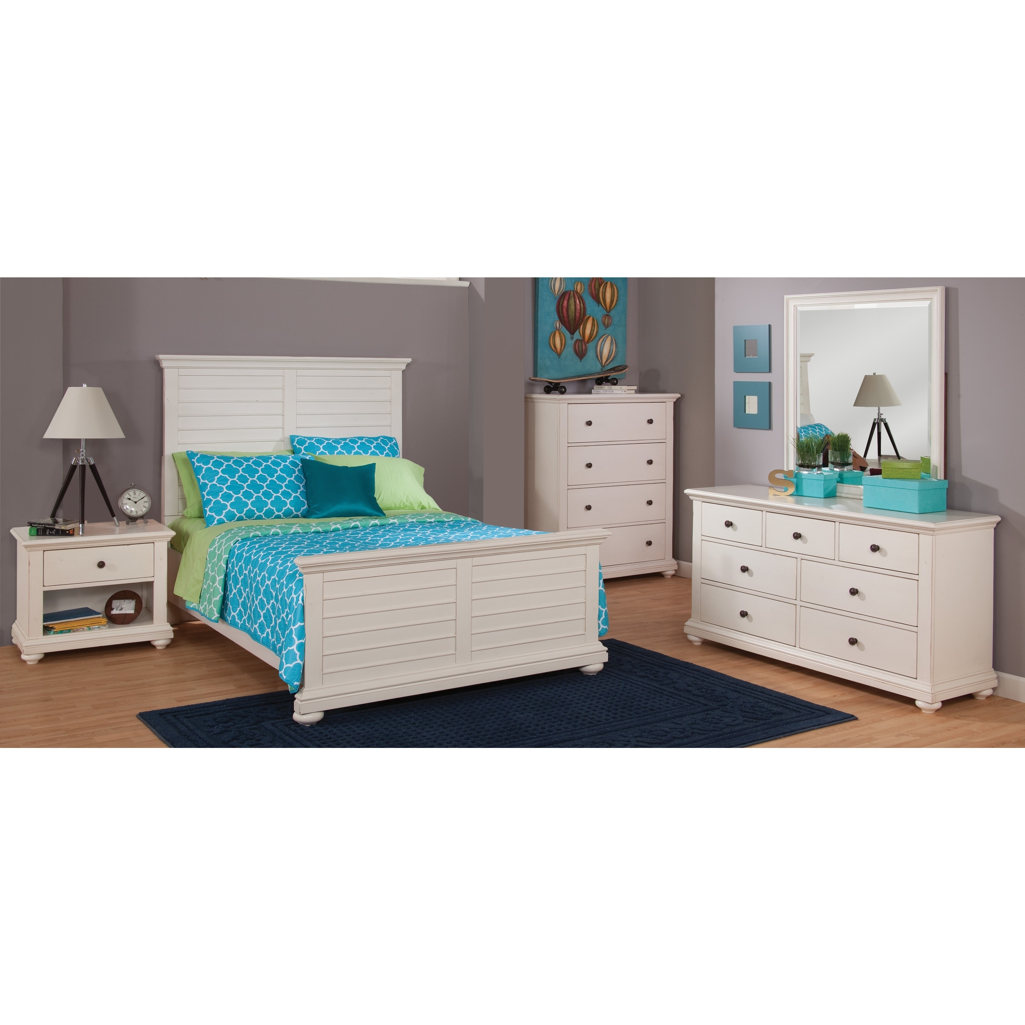 Huntington Bedroom Furniture Greyson Living Huntington Antique White 5 Piece Bedroom Set