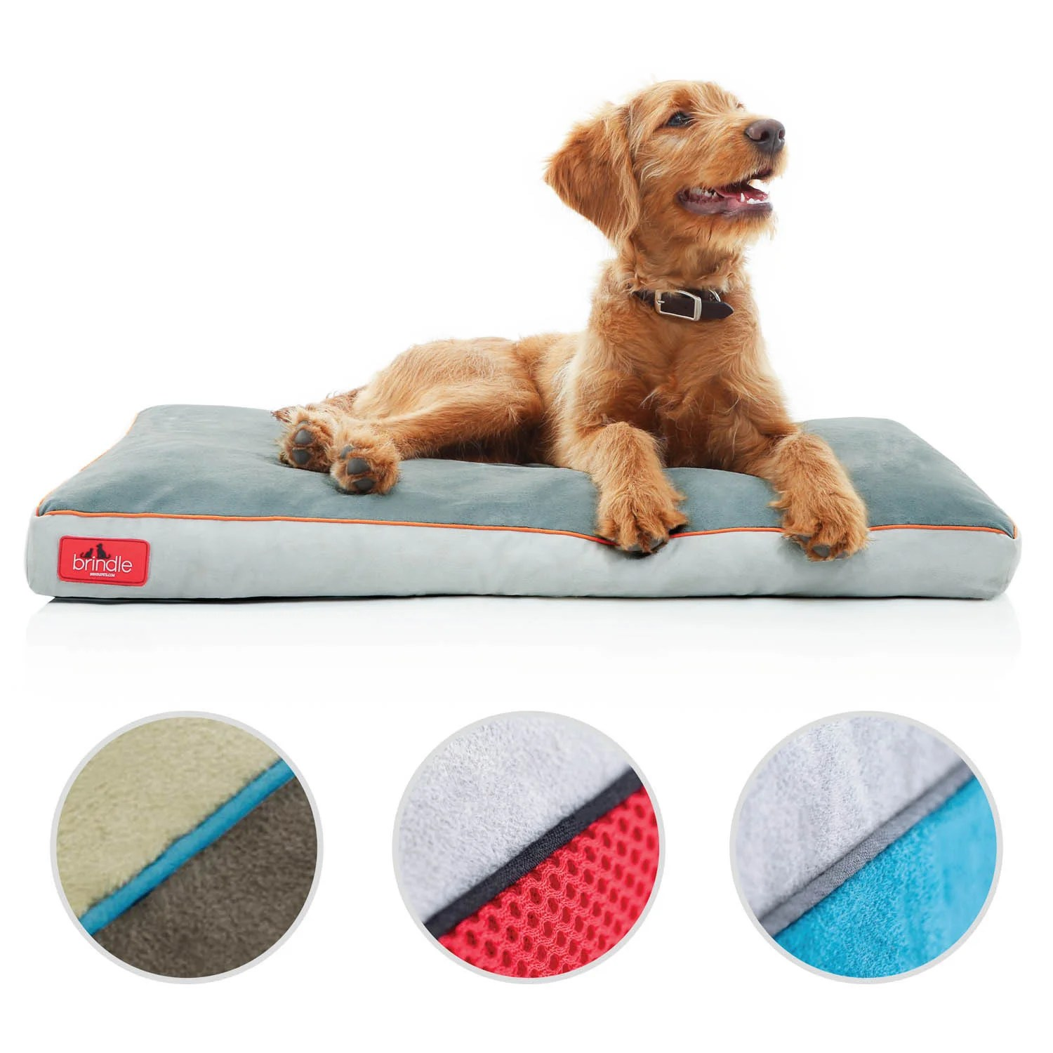 Dog Beds Pet Brindle Memory Foam Dog Bed With Removable Washable Cover