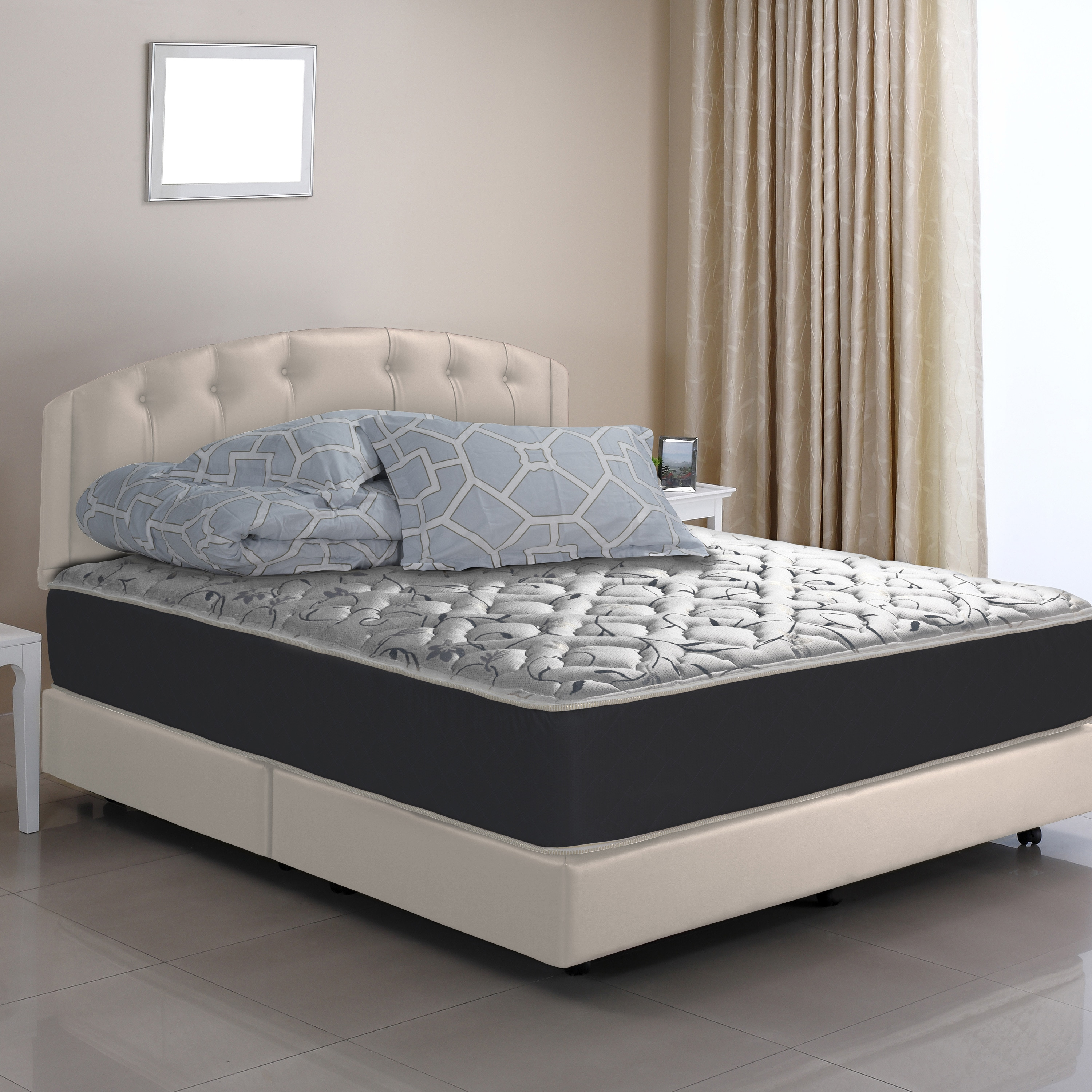 Firmest Mattresses On The Market Wolf Gemini Flippable Queen Size Wrapped Coil Innerspring Mattress