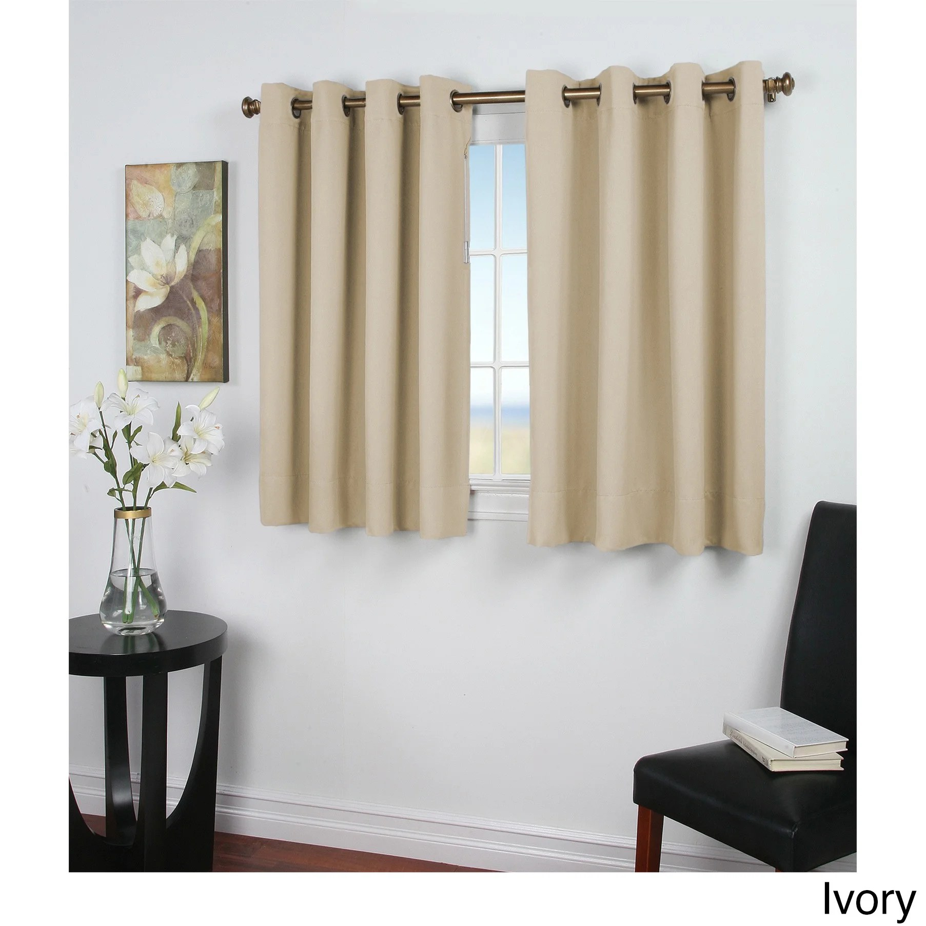 45 Inch Blackout Curtains Ultimate Blackout 45 Inch Short Length Grommet Curtain Panel