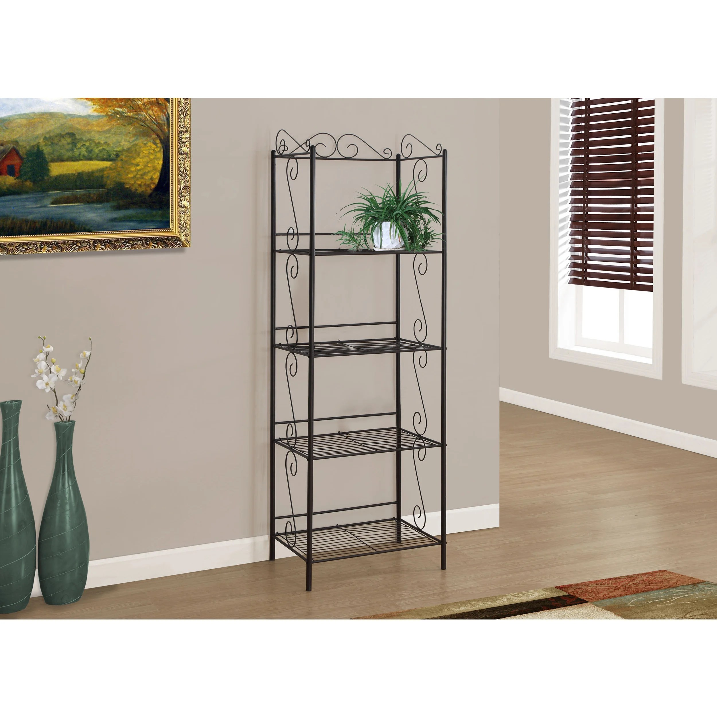 Etagere Cd But 71 Inch Bookcase Copper Metal Etagere