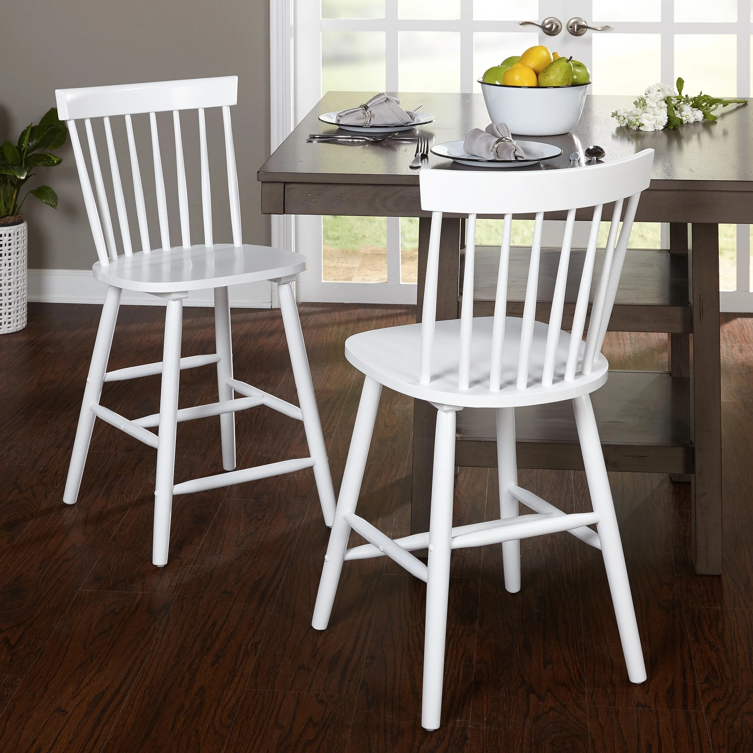 Living24 Möbel Simple Living 24 Inch Venice Counter Stools Set Of 2