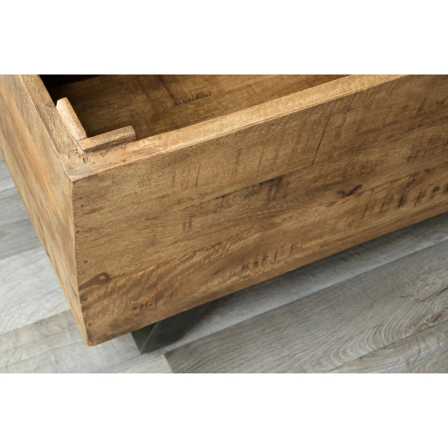 Carbon Loft Henrietta Mid Century Raw Mango Wood Storage Chest Carbon Loft Henrietta Mid Century Raw Mango Wood Storage Chest