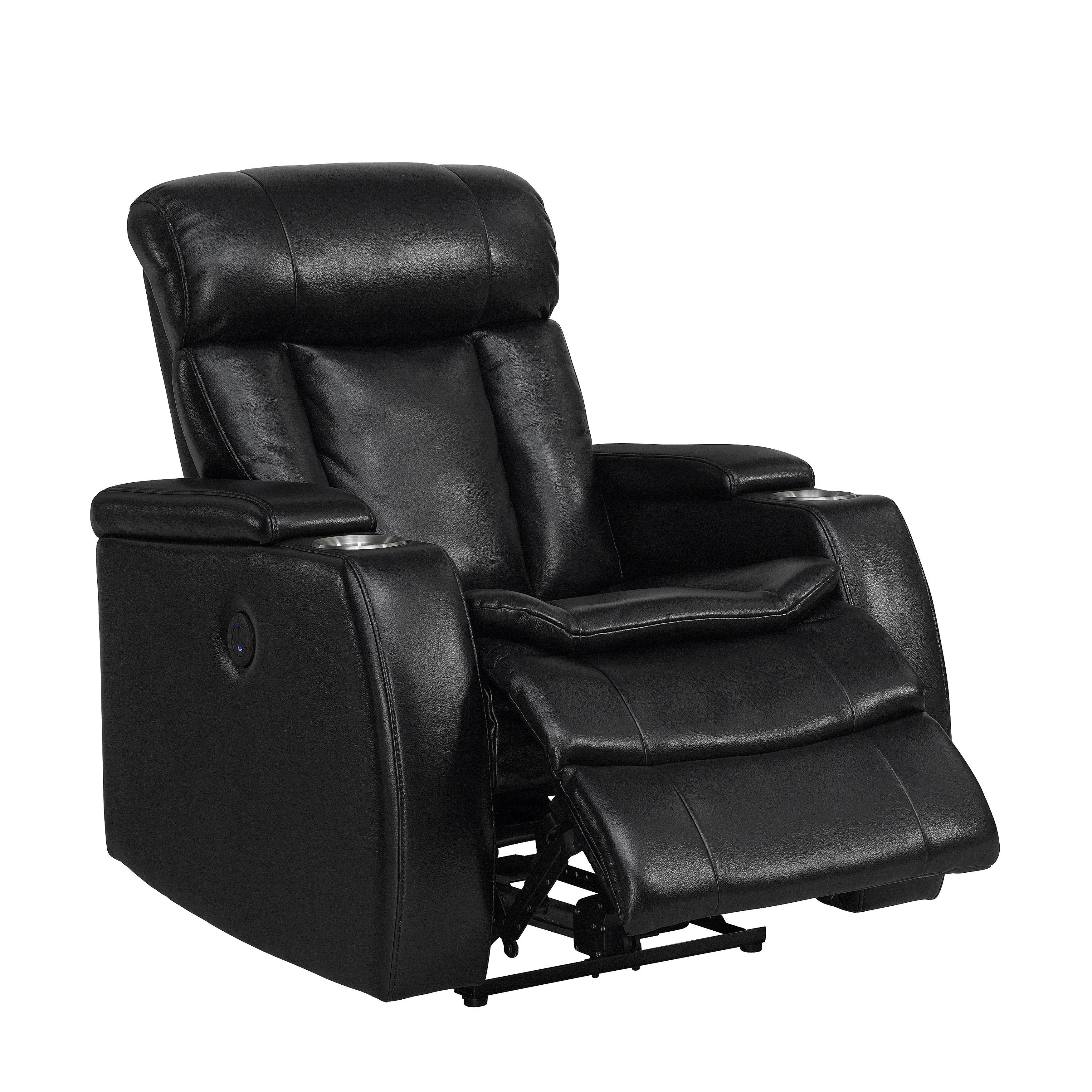 Sofa Relax Con Usb Smart Tech Bluetooth Power Reclining Black Sofa And Recliner Chair