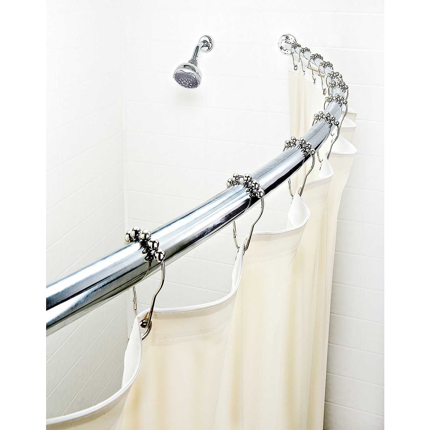 Curved Shower Curtains Rods Bath Bliss Expandable 42 To 72 Inch Curved Shower Curtain Rod