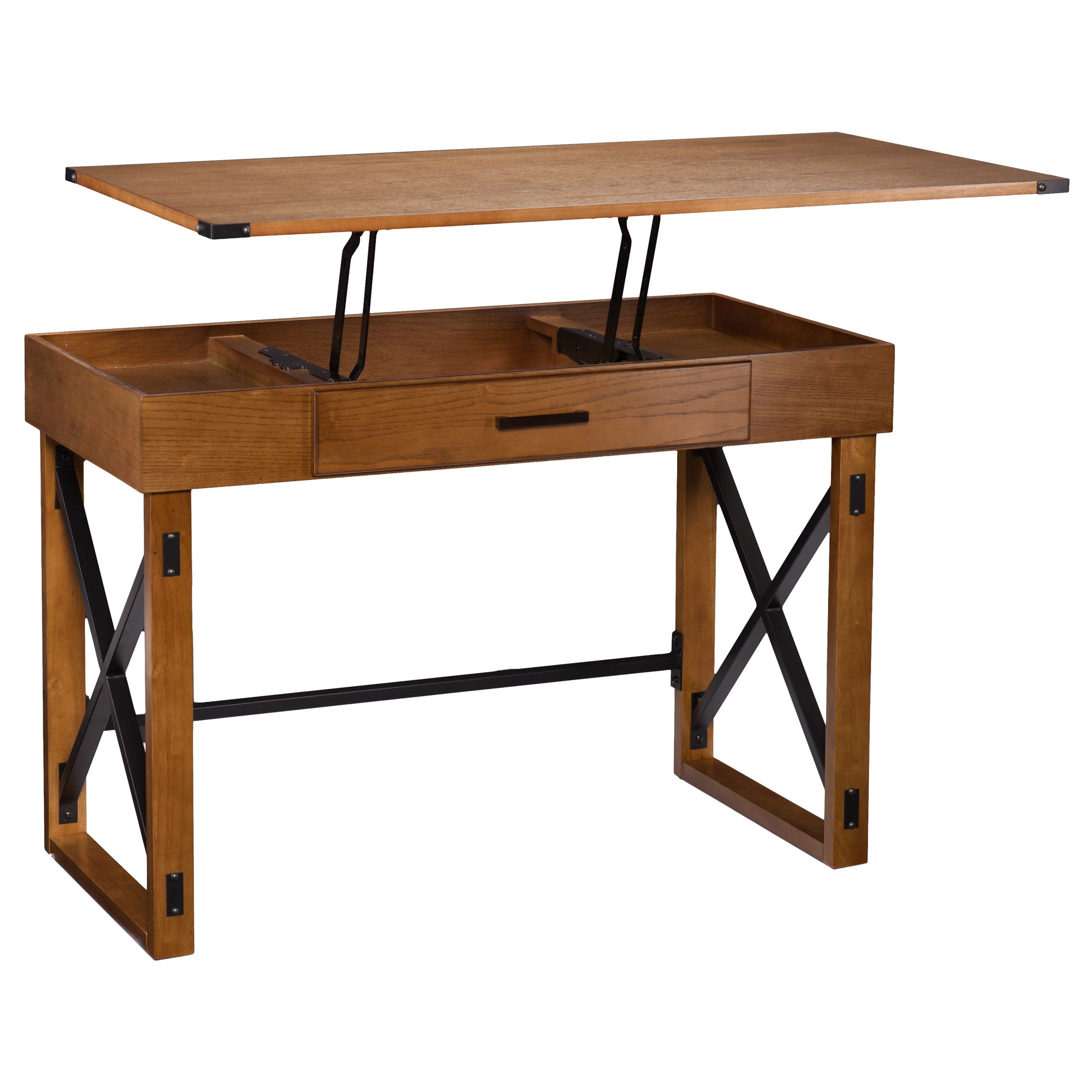 Adjustable Height Drafting Table Harper Blvd Carlan Distressed Pine Adjustable Height Desk