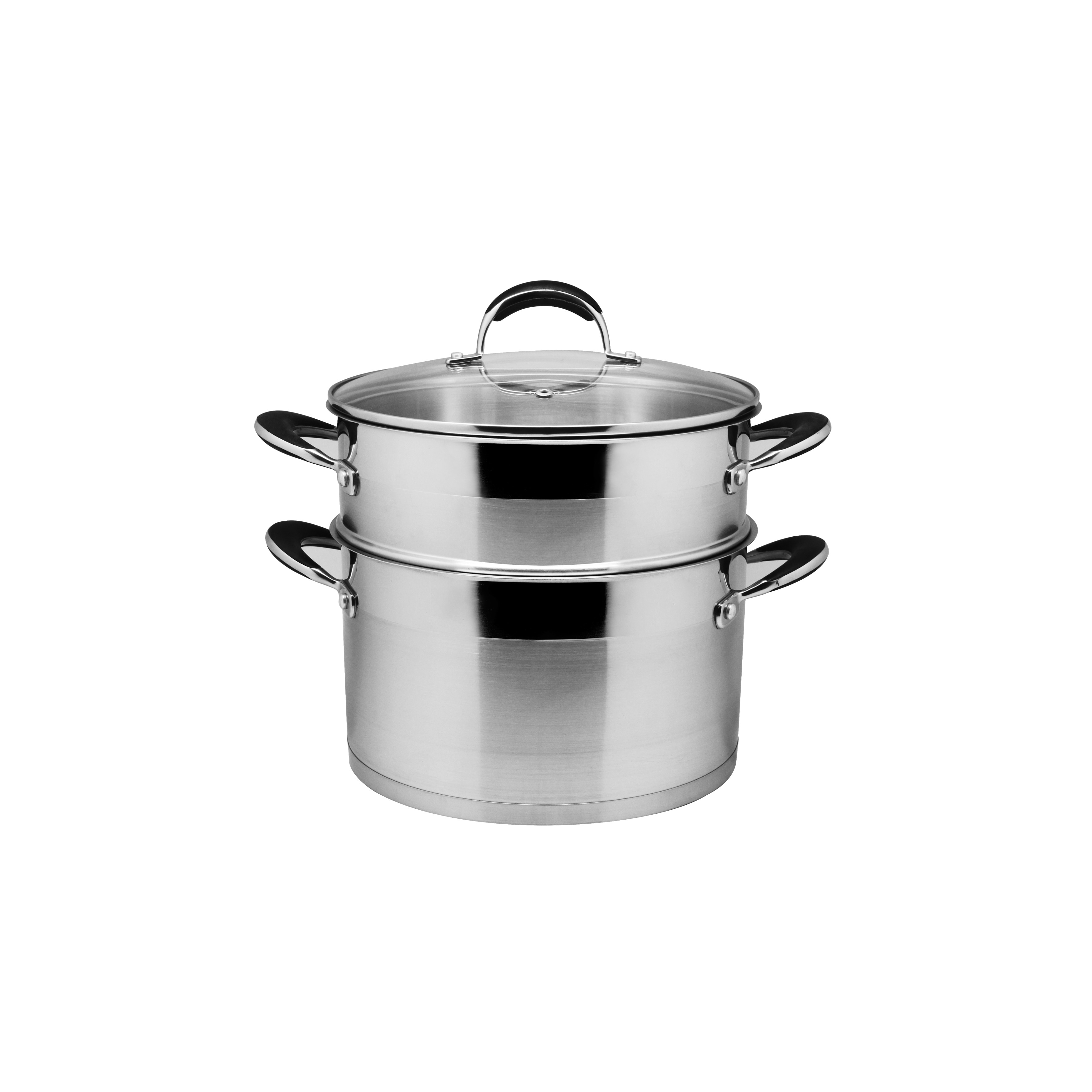 Steamer Saucepan Prime Cook Stainless Steel 8 Quart Stock Pot And Steamer Set With Glass Lid