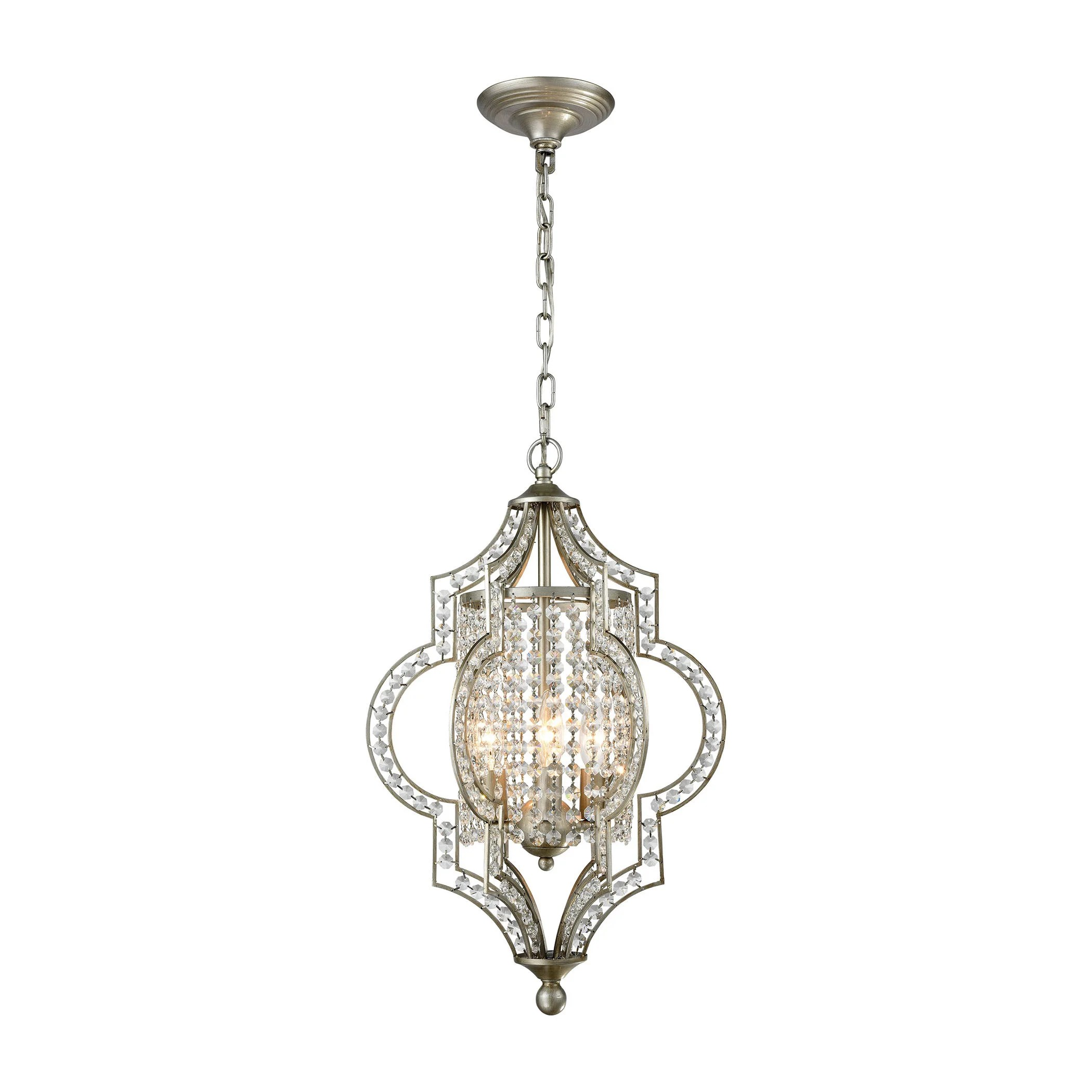 Led Chandelier Elk Gabrielle 3 Light Led Chandelier In Aged Silver