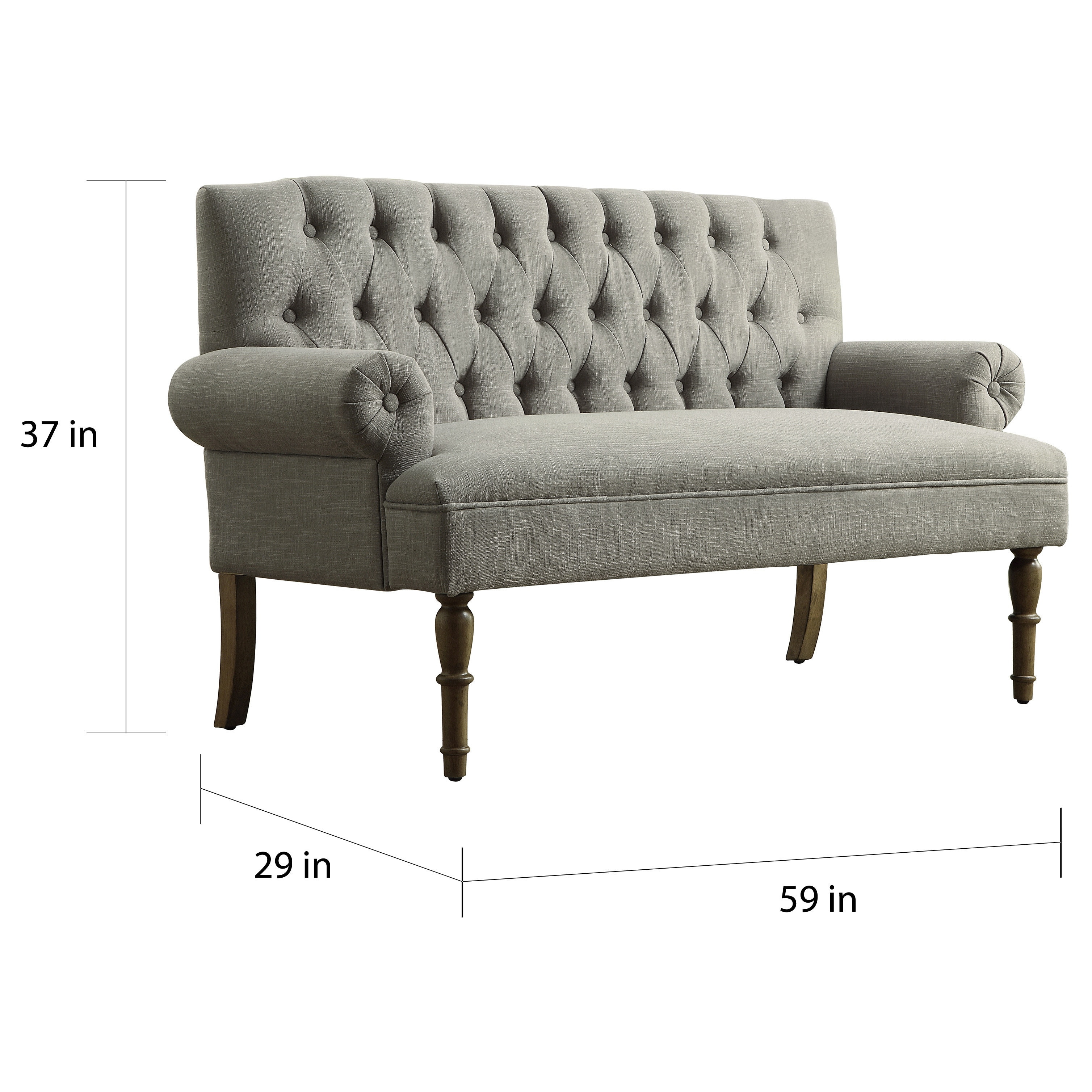 Settee Loveseat Upholstered Settee Loveseat With Tufting Back