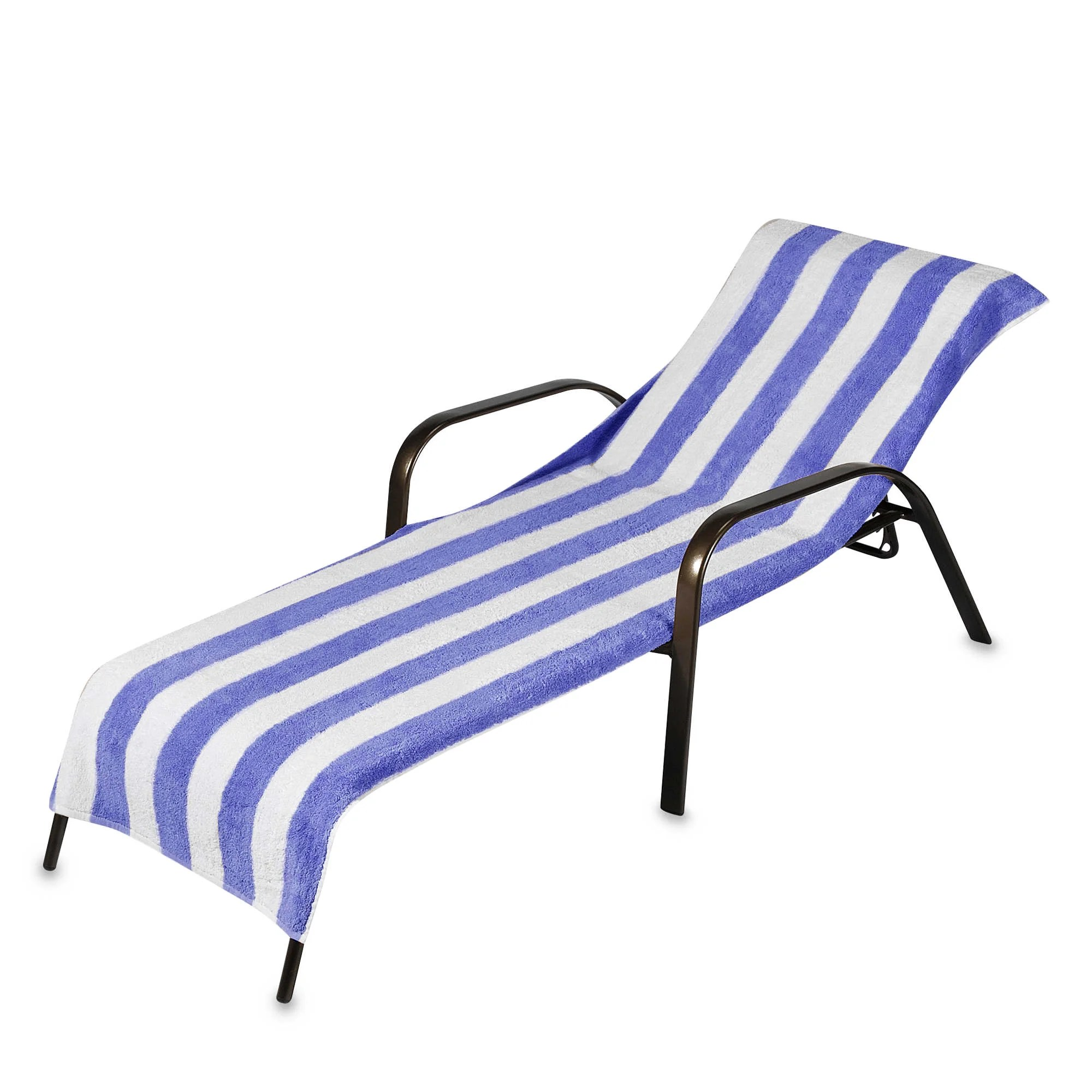 Chaise Style Beach Towel Style Terry Stripe Chaise Lounge Cover 28 X 78 Assorted Colors