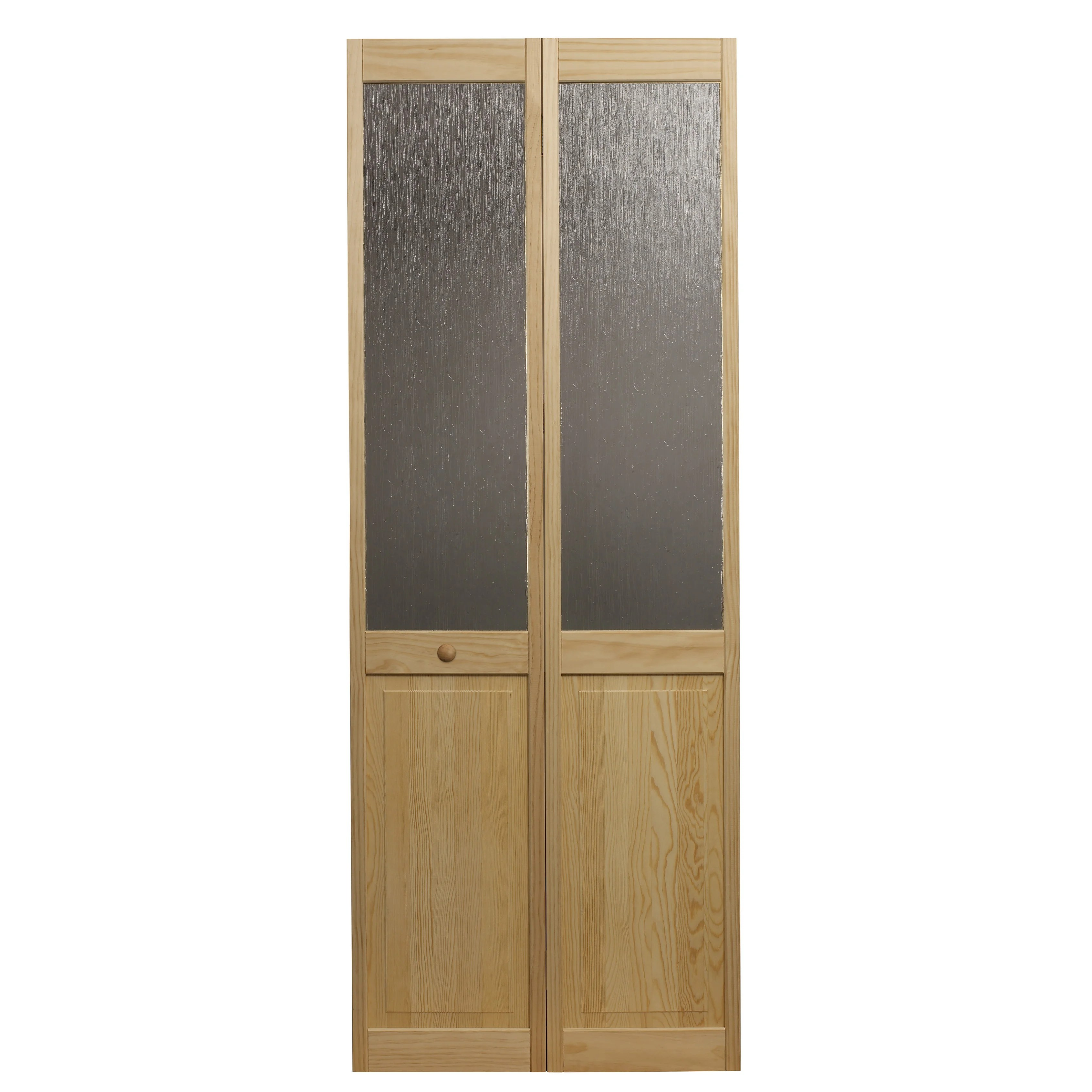 Half Inch Plywood Awc Aspen Half Glass 36 Inch X 80 5 Inch Unfinished Bifold Door