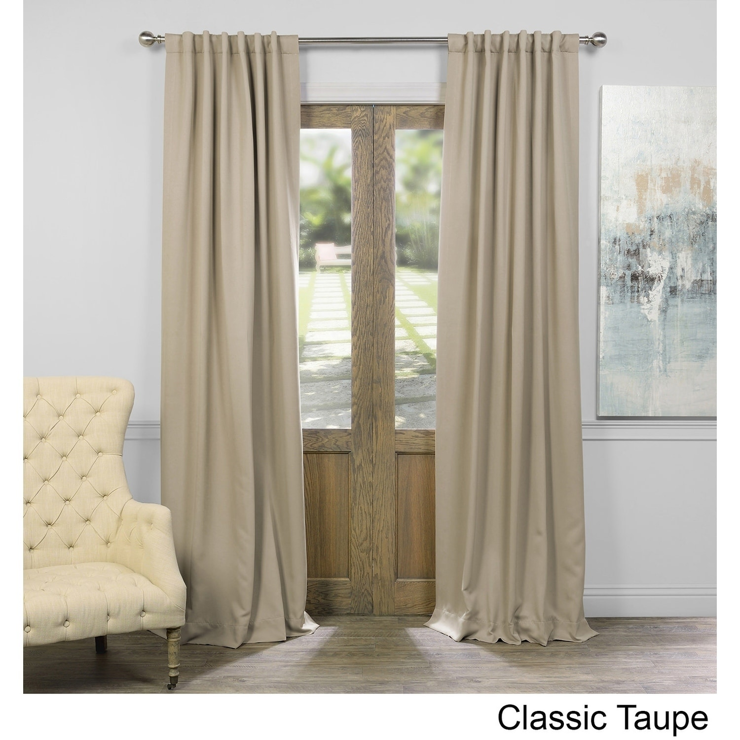 108 Inch Curtain Panels Exclusive Fabrics Thermal Insulated Solid Blackout 108 Inch Curtain Panel Pair 50 X 108
