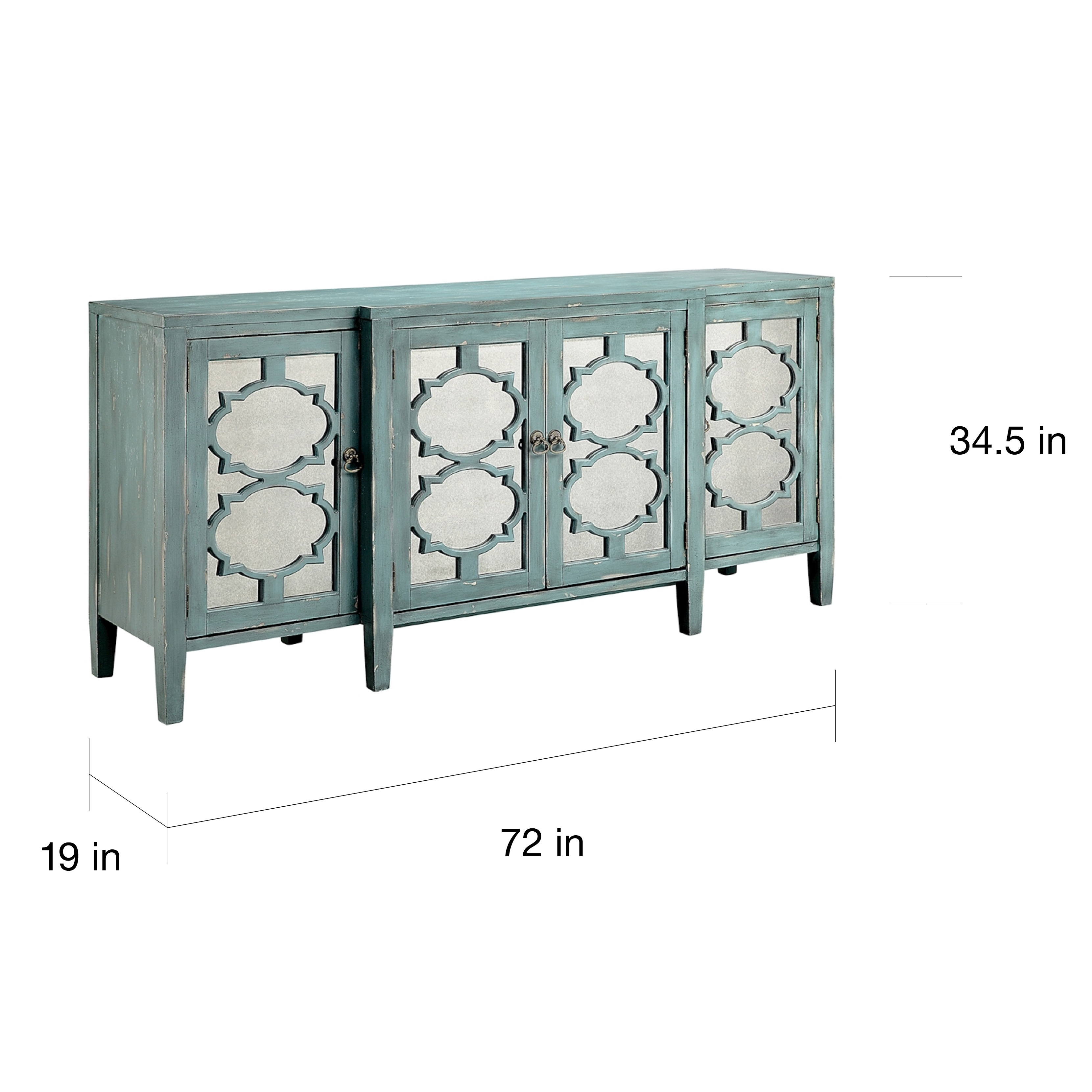Buffet Sideboard Blue Carrie Ocean Blue Breakfront Credenza Buffet Table