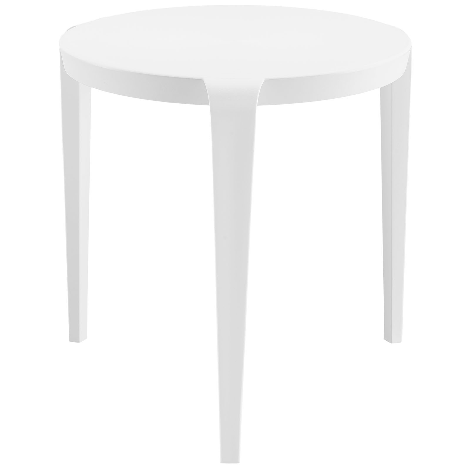 Table Polypropylène Modway White Black Polypropylene And Plastic Spin Side Table