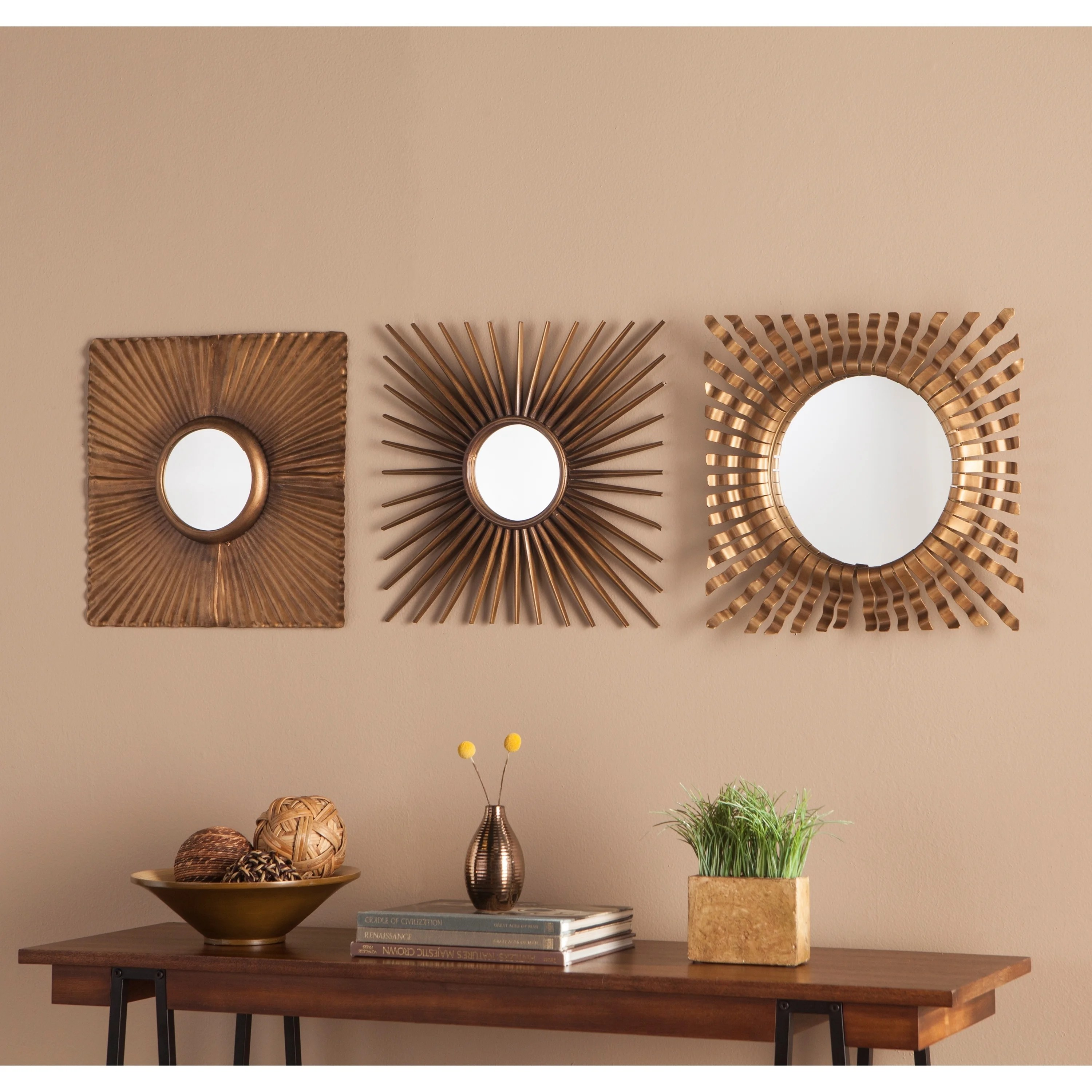 Decorative Mirror Carson Carrington Orivesi 3 Piece Decorative Mirror Set