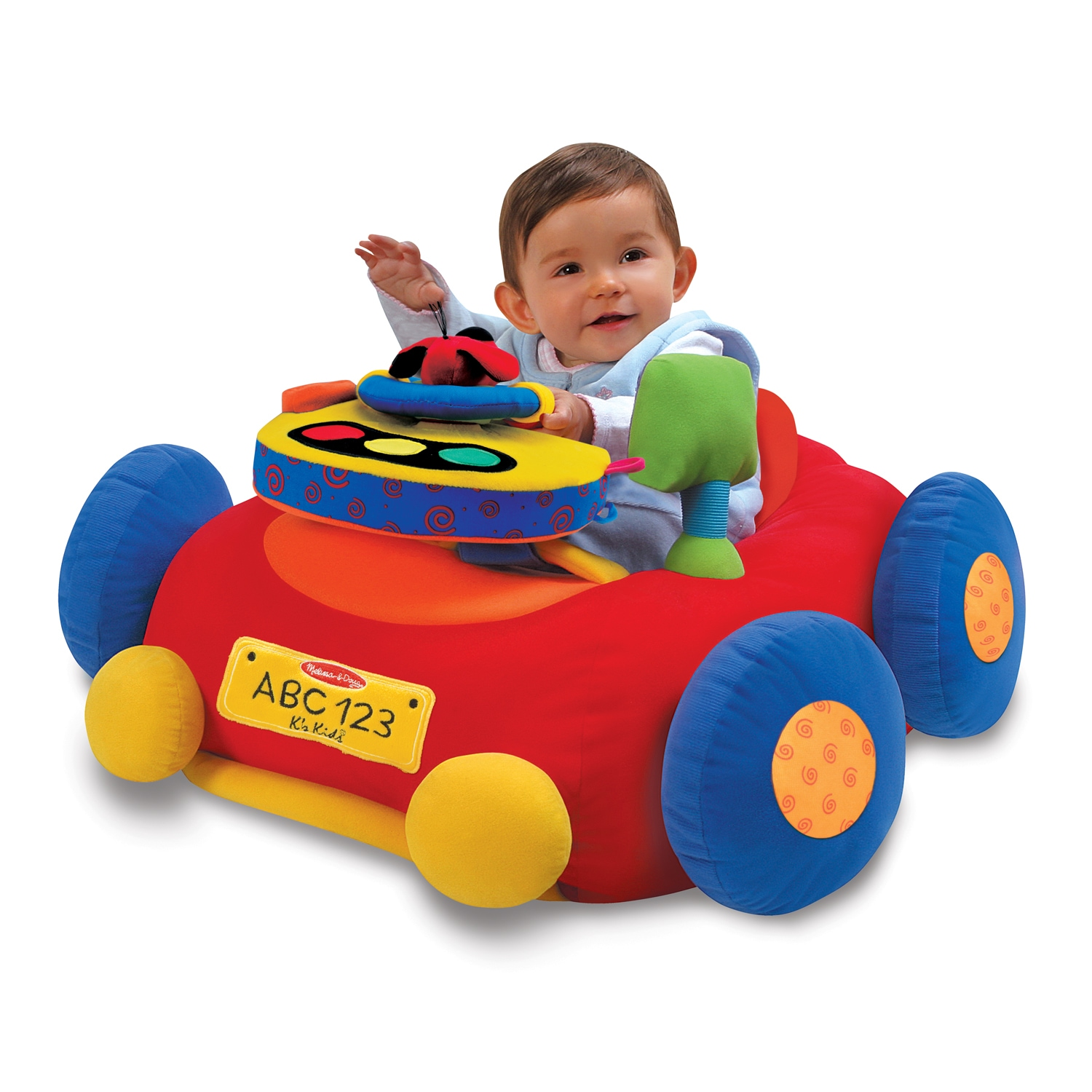 Baby Activity Center Melissa Doug Beep Beep Play Activity Center Baby Toy Red Blue