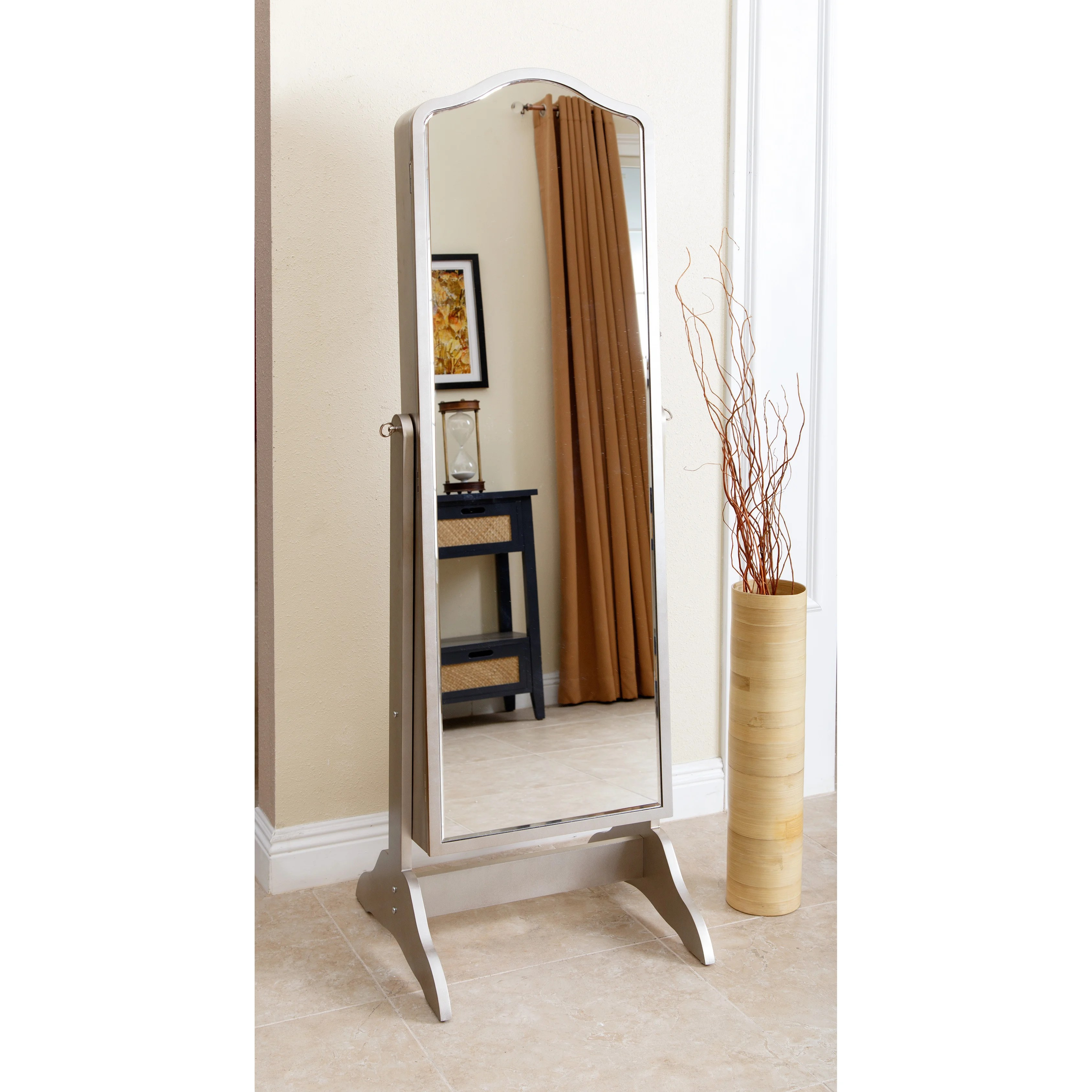 Standing Mirror Abbyson Sophie Standing Mirror And Jewelry Armoire