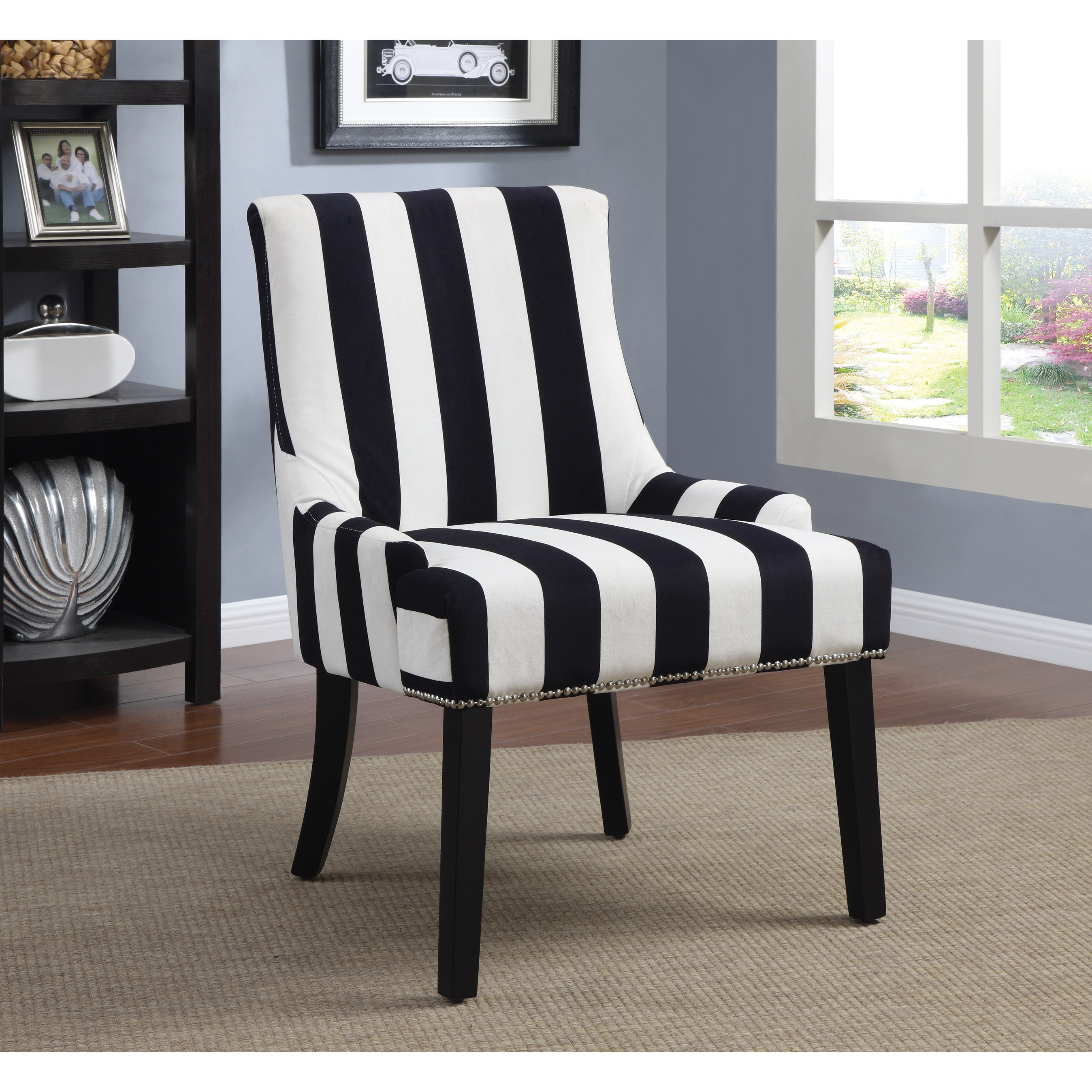 Black And White Accent Chair Transitional Navy And White Accent Chair