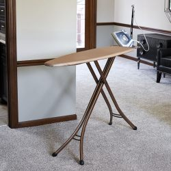 Household Essentials Copper Finish 4 Leg Deluxe Ironing Board