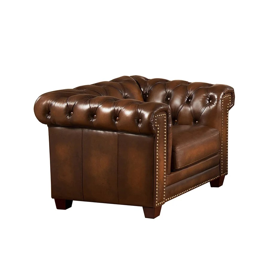 Chesterfield Sofa And Chair Hickory Brown Leather Chesterfield Sofa And Chair Set