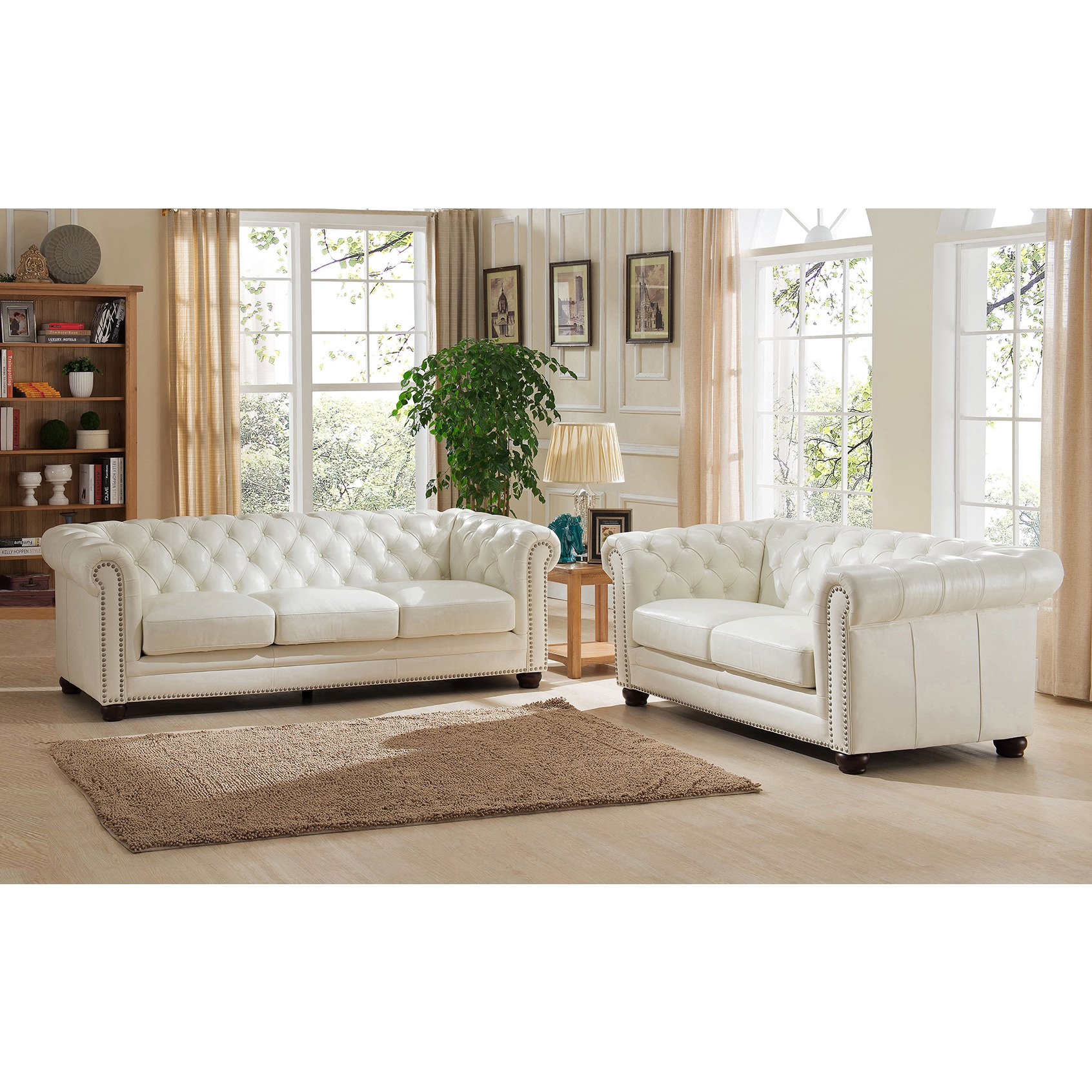 Barlow White Leather Sofa And Loveseat Set Leather Chesterfield Sofa And Loveseat Set Sofa Ideas