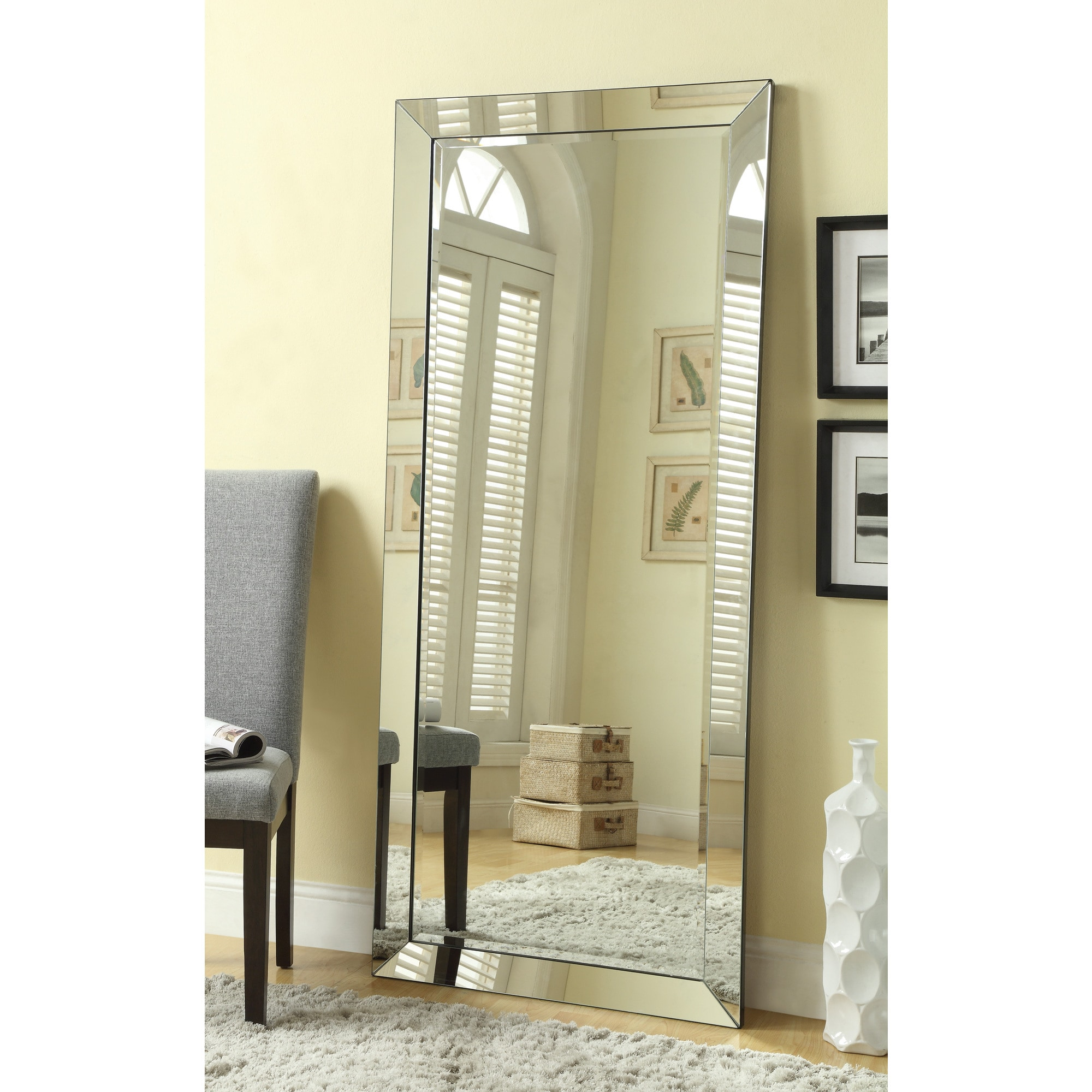 Standing Mirror Large Standing Wall Mirror With Mirror Frame