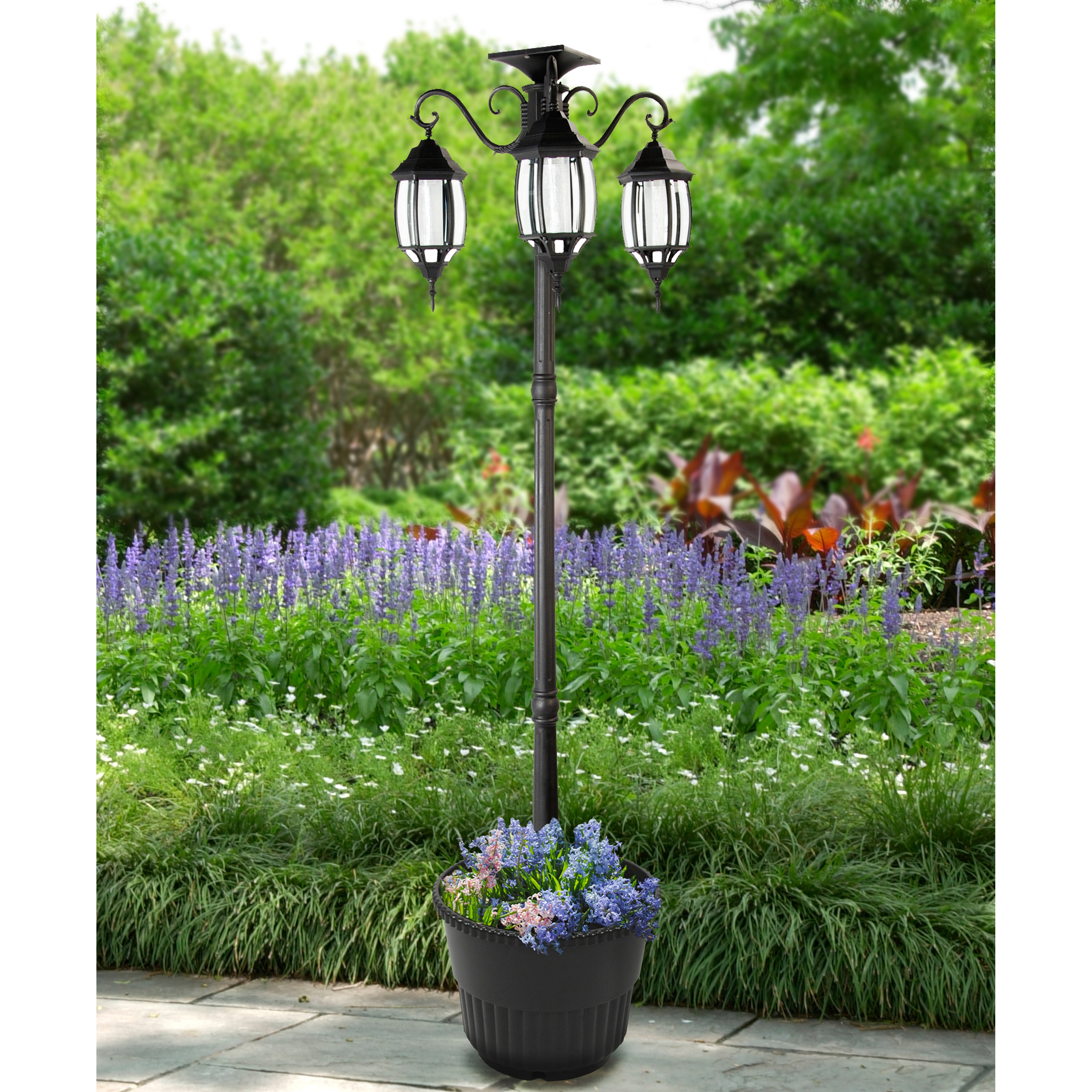 Solar Lamp Post Madison Solar Lamp Post And Planter