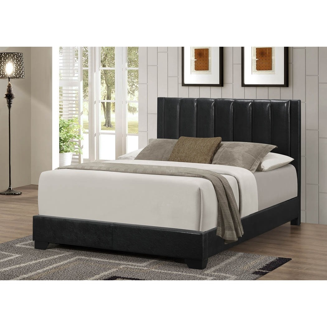 Leather Bed Lyke Home Moda Black Leather Bed