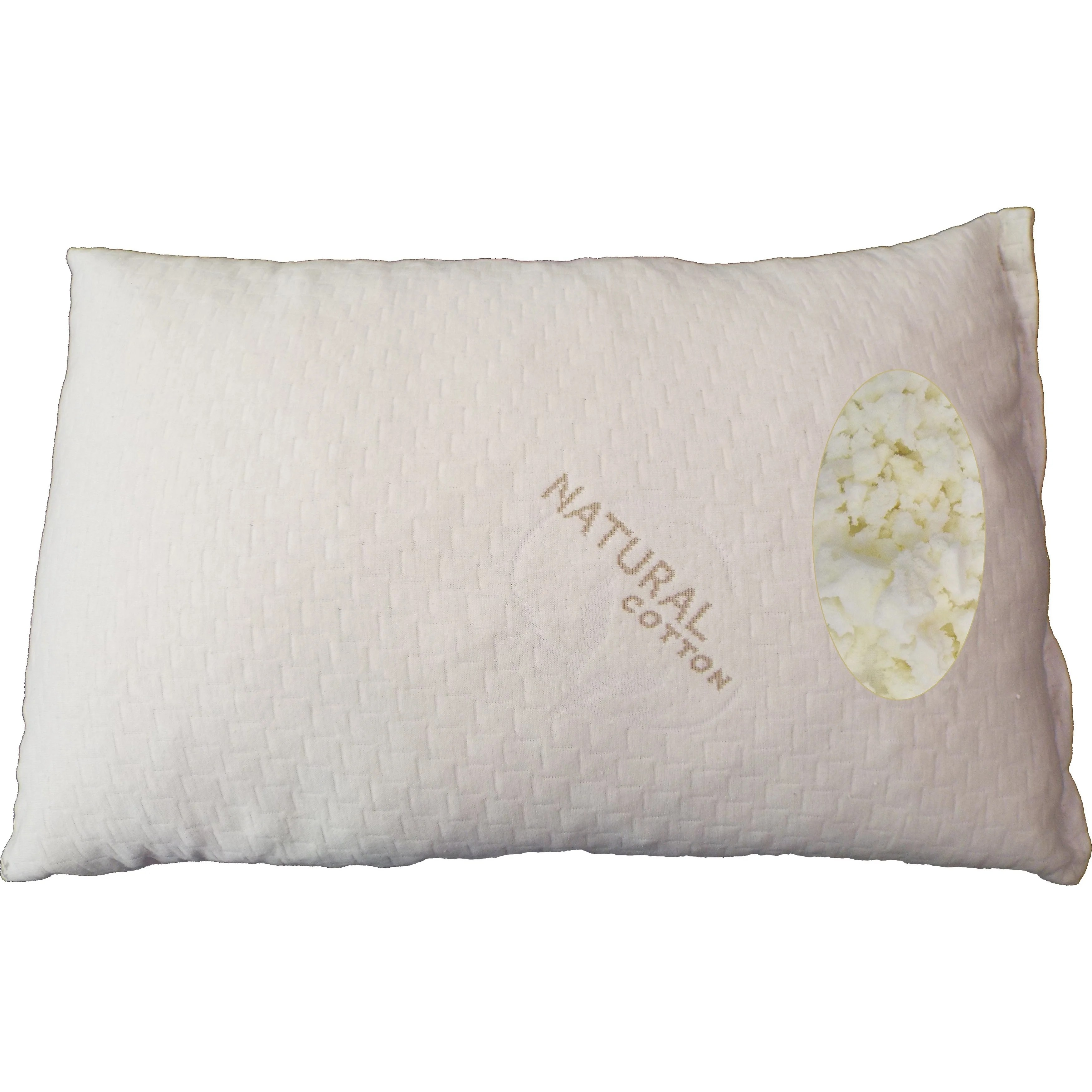 Latex Pillow Somette Shredded King Size Latex Pillow With Natural Cotton Cover Set Of 1 Or 2
