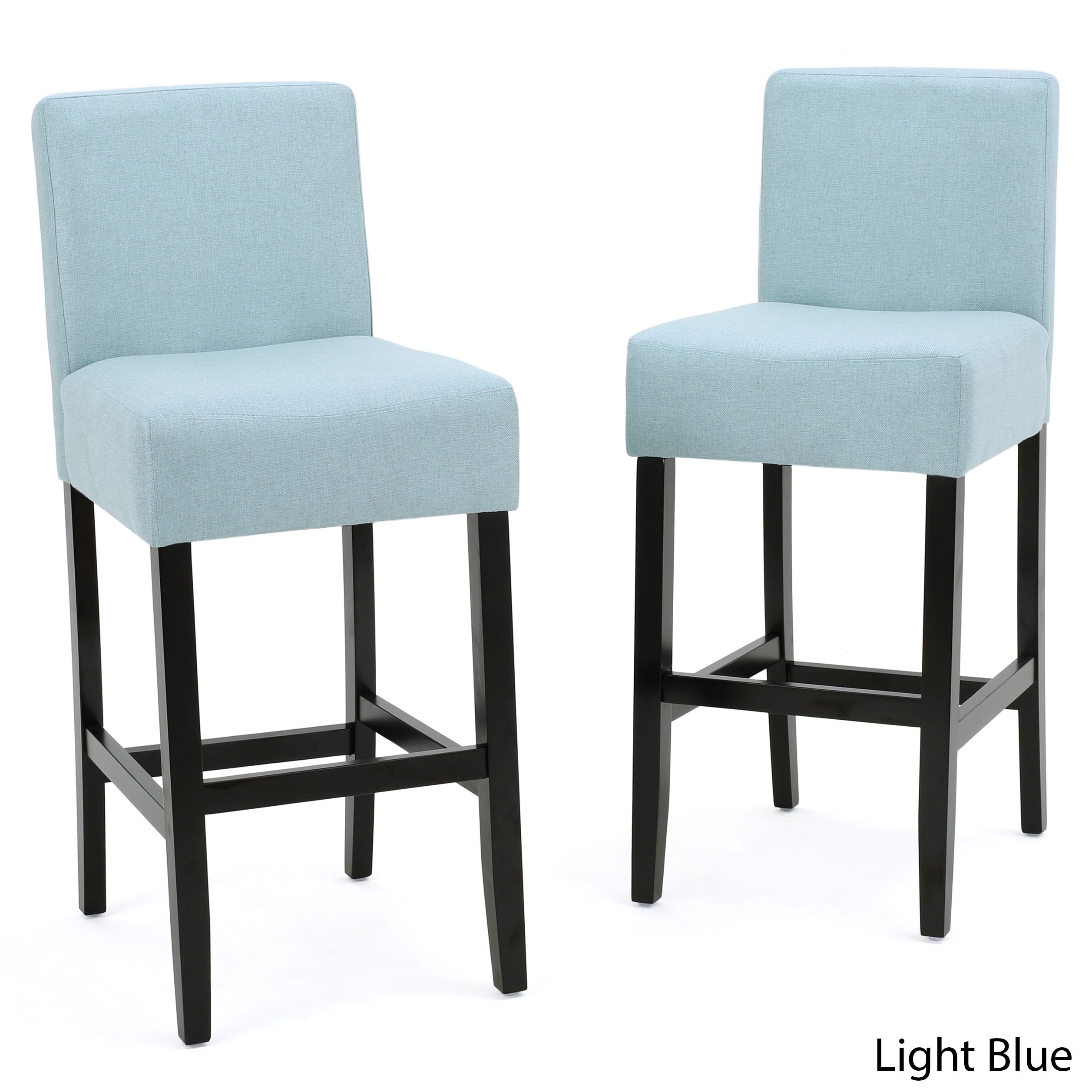 Fabric Counter Height Bar Stools Lopez 26 Inch Fabric Counter Stool Set Of 2 By Christopher Knight Home 26