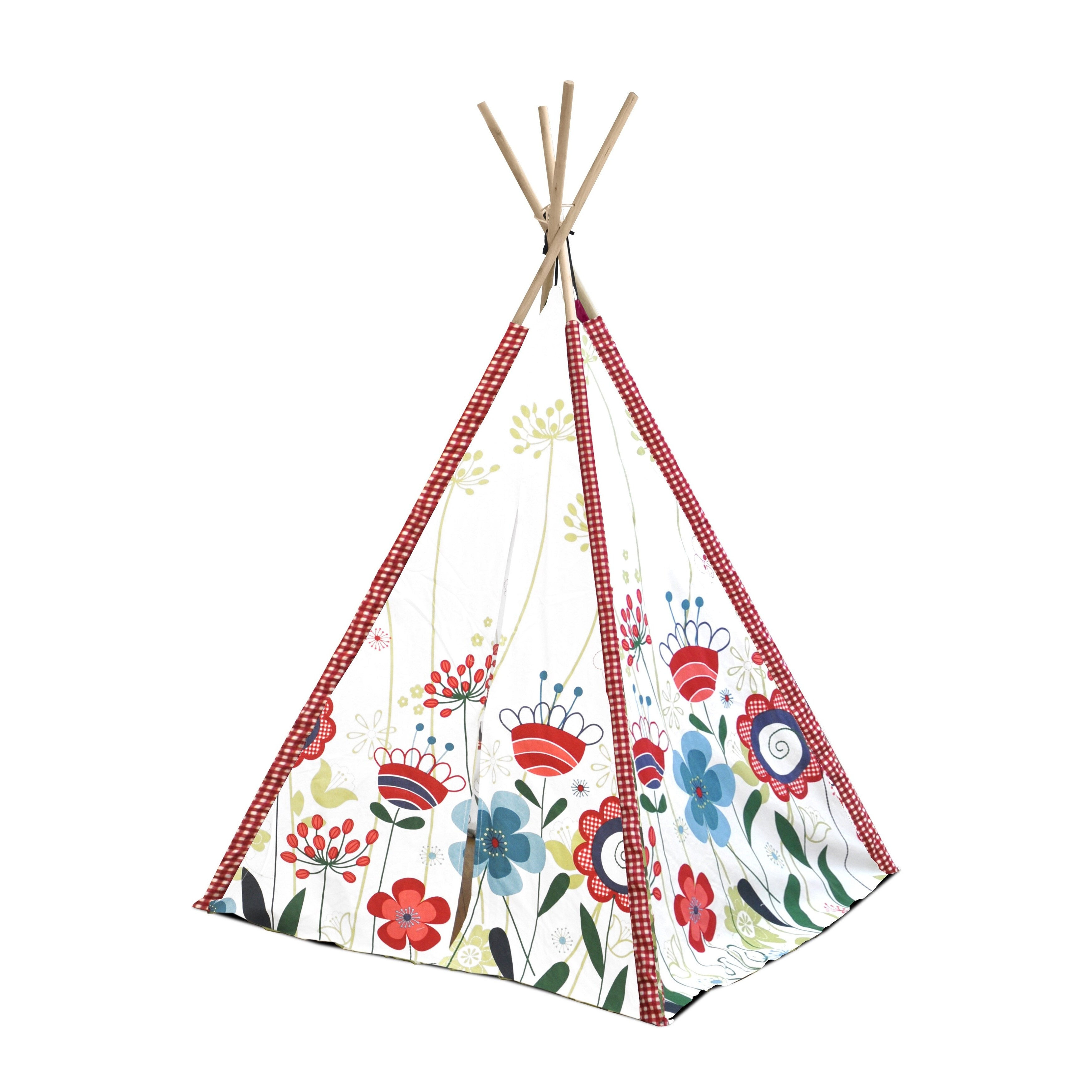 Teepee Kids Kids Floral Canvas Play Teepee Tent